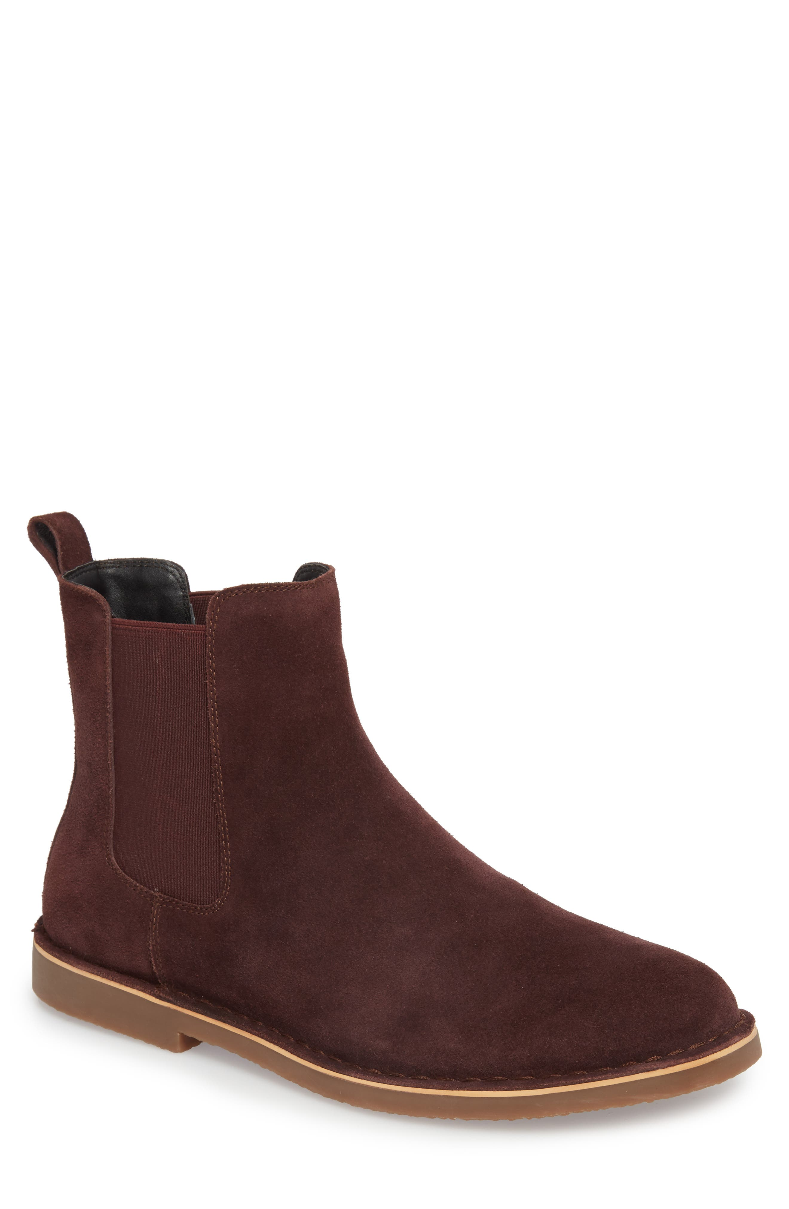 Mesa Chelsea Boot,                             Main thumbnail 1, color,                             BURGUNDY SUEDE