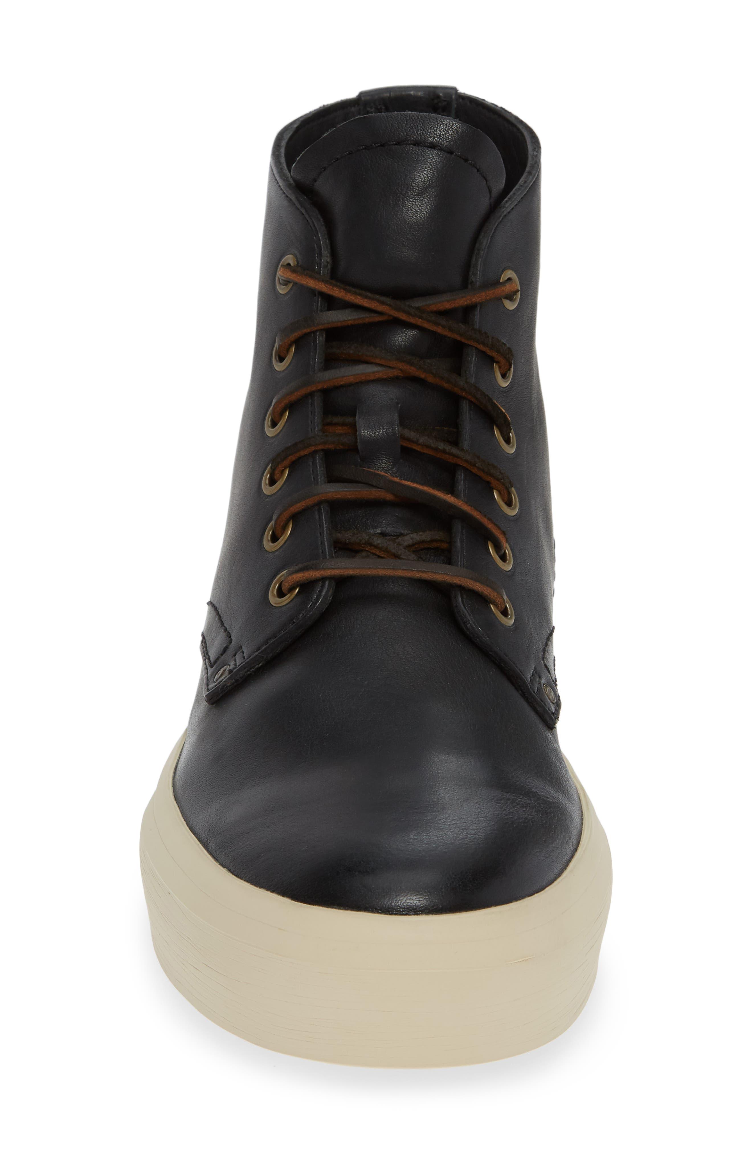Beacon High Top Platform Sneaker,                             Alternate thumbnail 4, color,                             BLACK