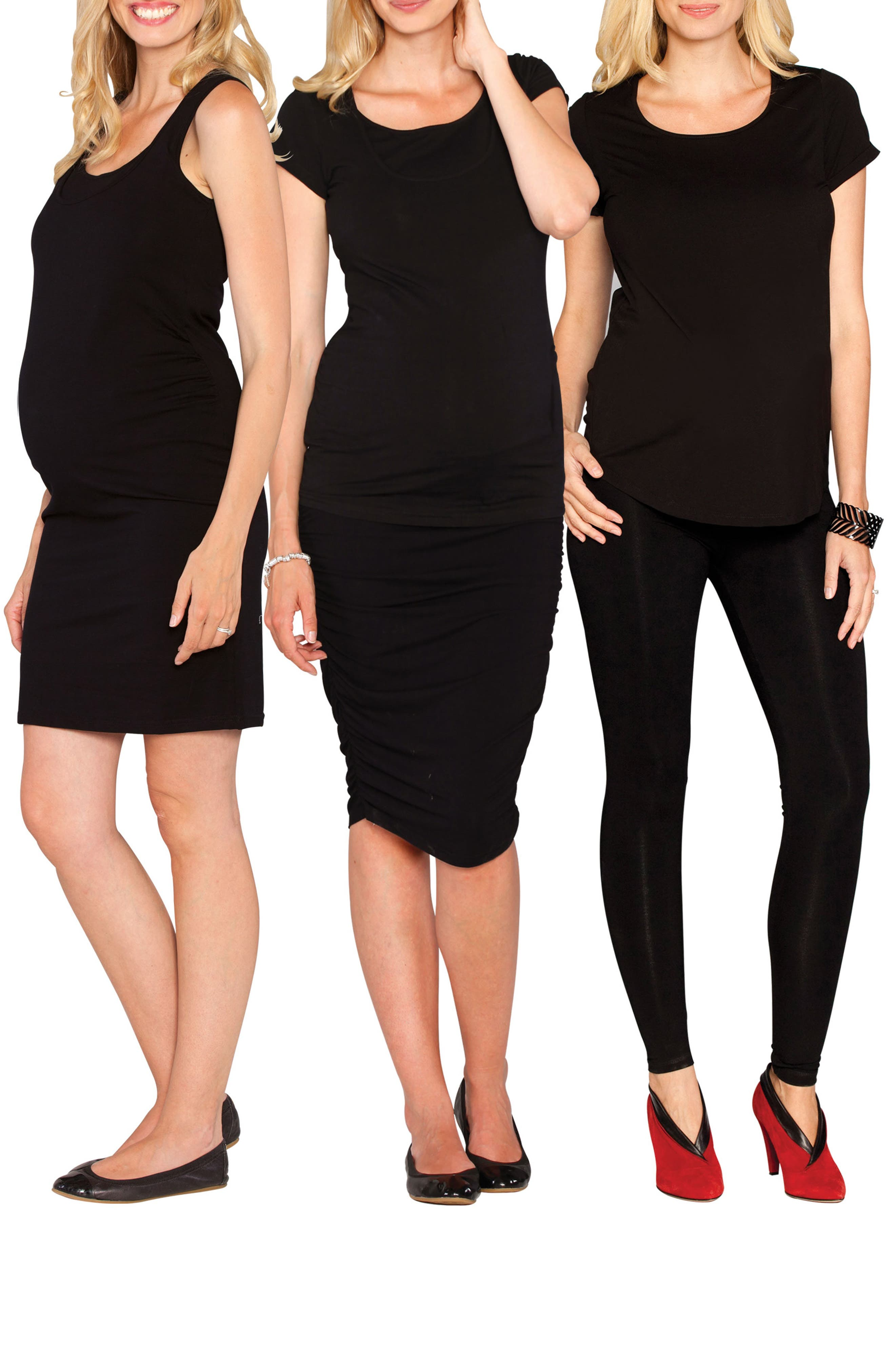 The Bumper Essential 4-Piece Maternity Starter Kit,                             Alternate thumbnail 7, color,                             BLACK
