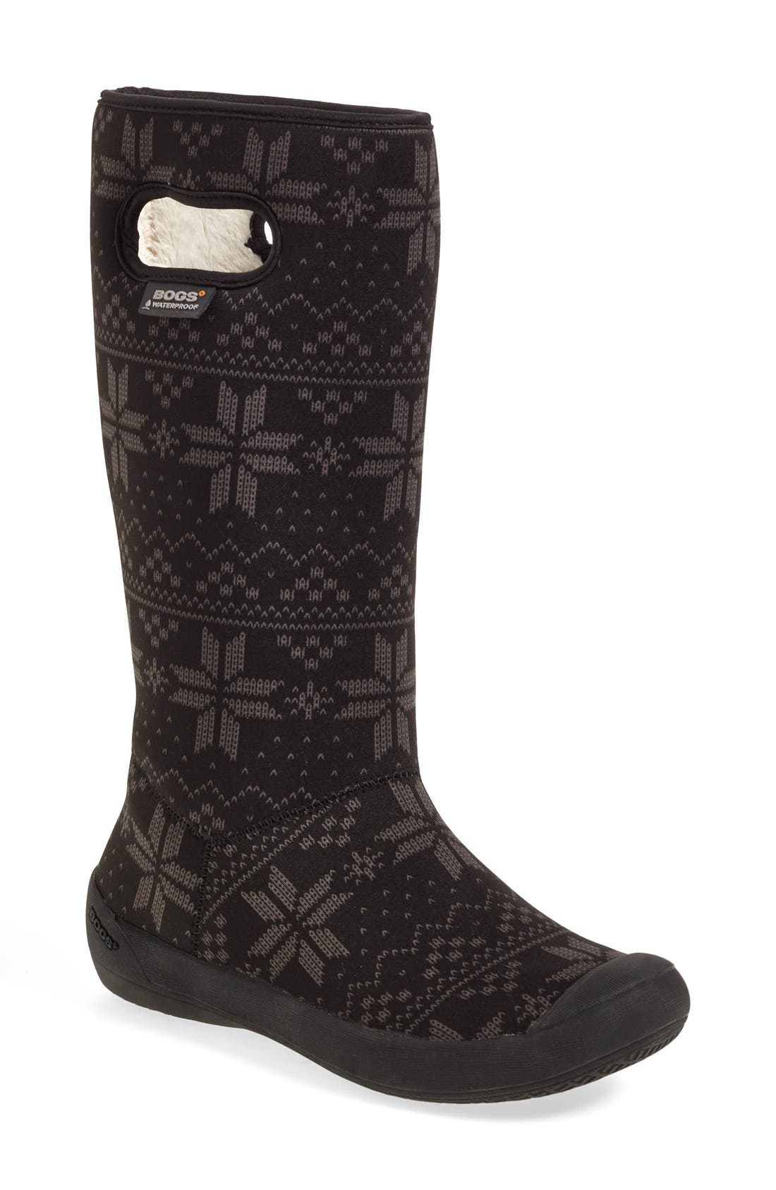 'Summit - Sweater' Waterproof Boot,                             Main thumbnail 1, color,                             001