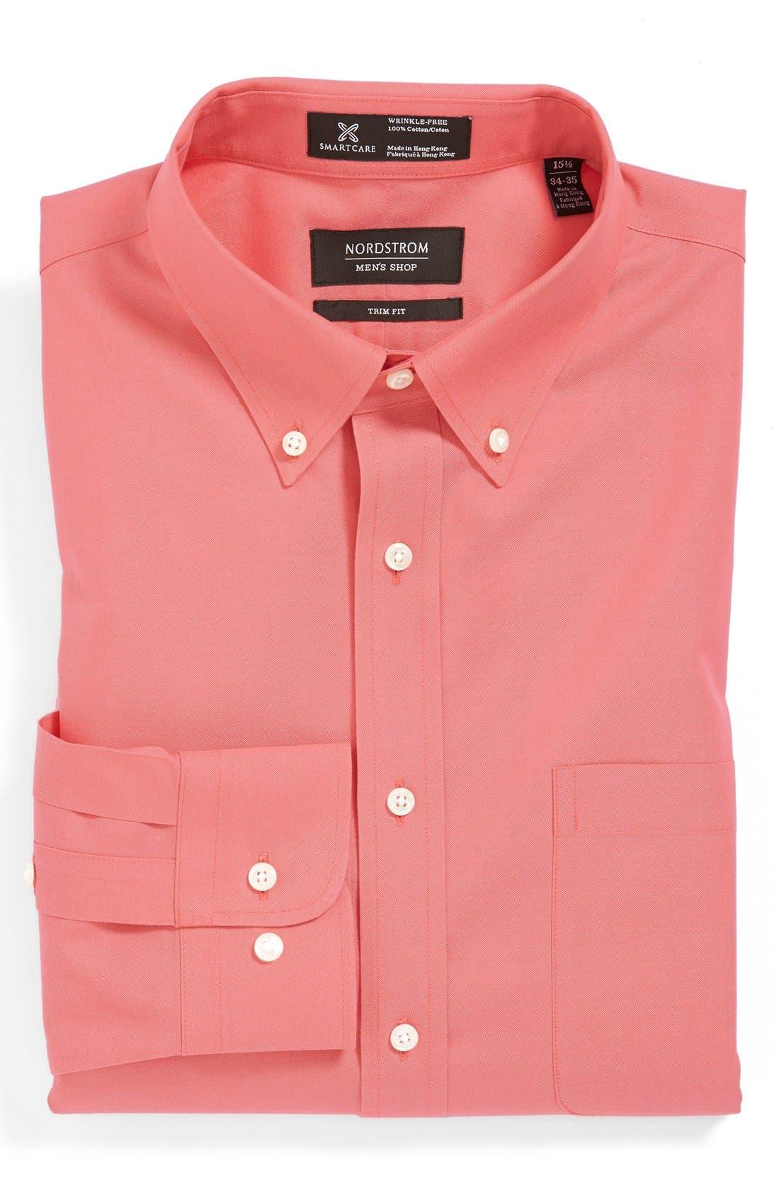 Smartcare<sup>™</sup> Trim Fit Solid Dress Shirt,                             Main thumbnail 19, color,