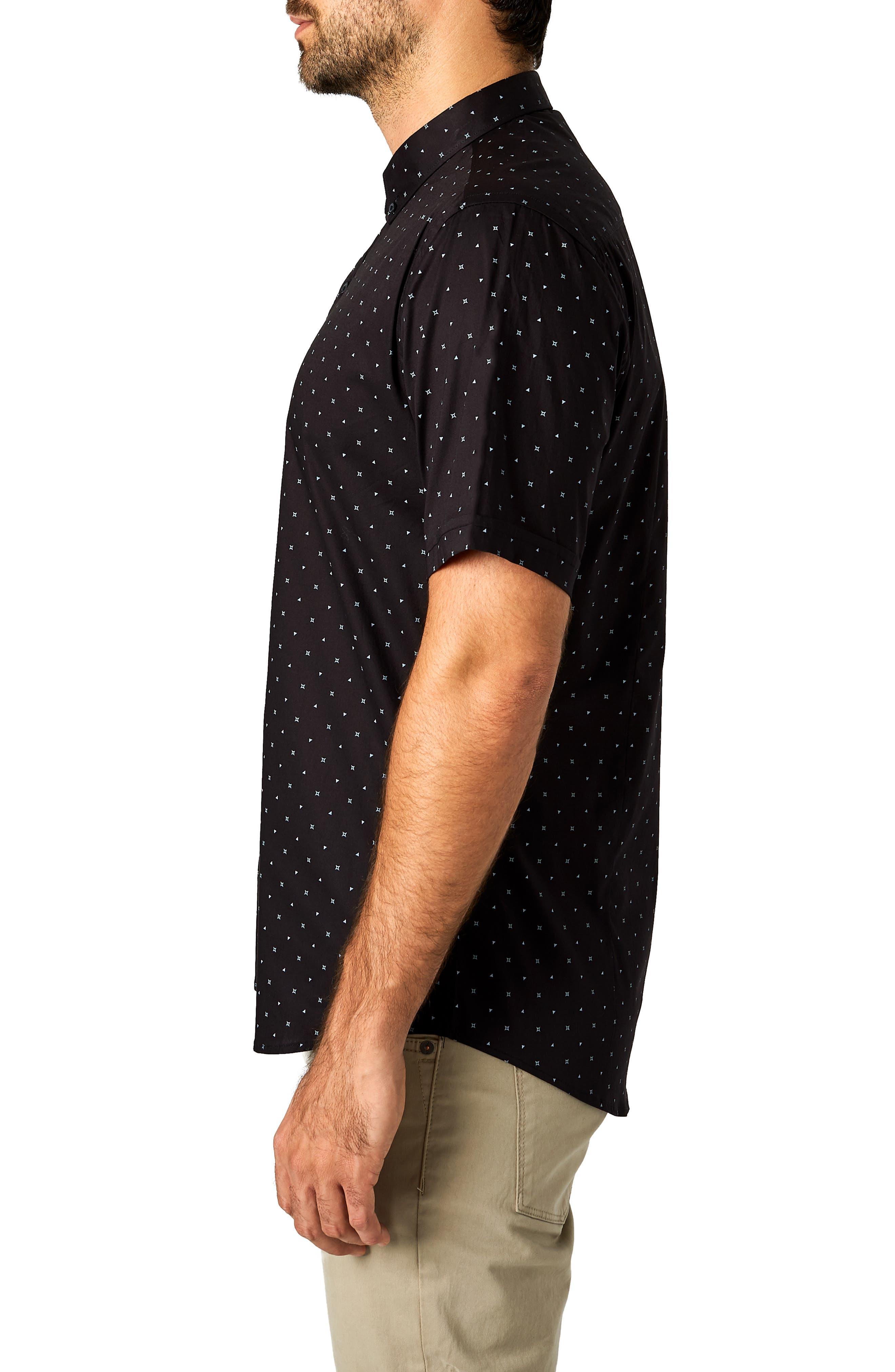 Casual Fiasco Trim Fit Sport Shirt,                             Alternate thumbnail 4, color,                             BLACK