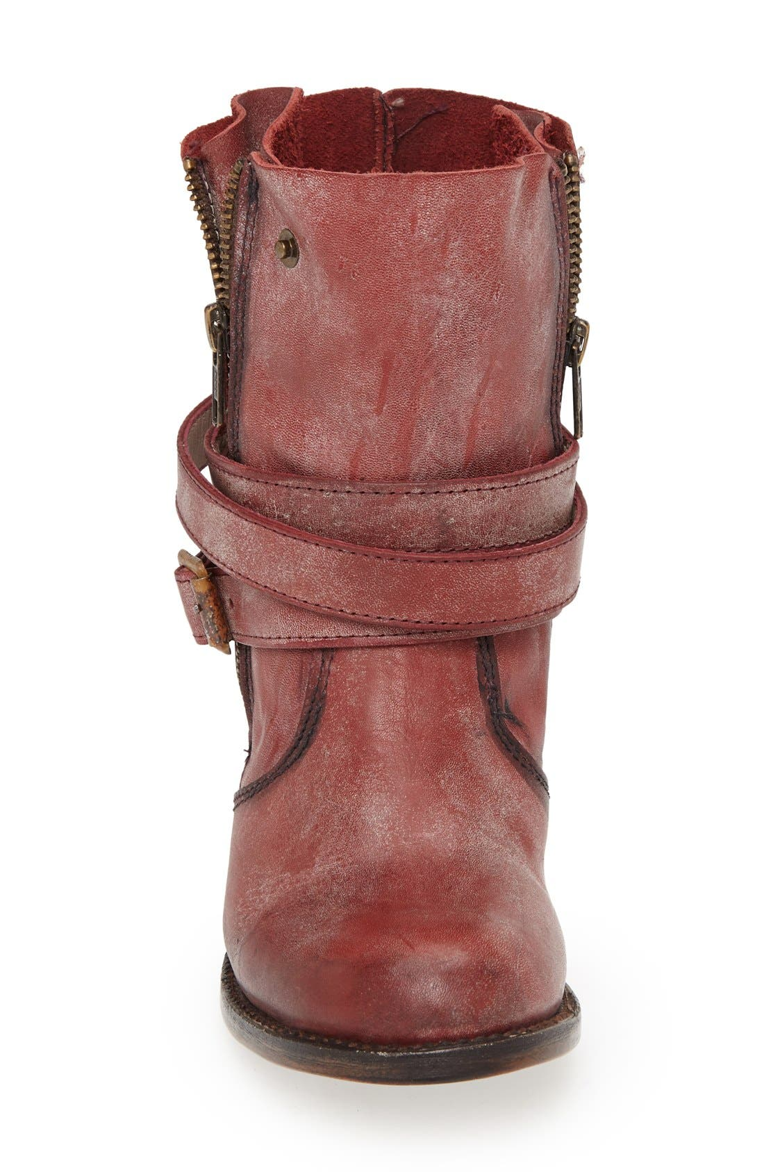 'Bama' Leather Ankle Bootie,                             Alternate thumbnail 4, color,                             600