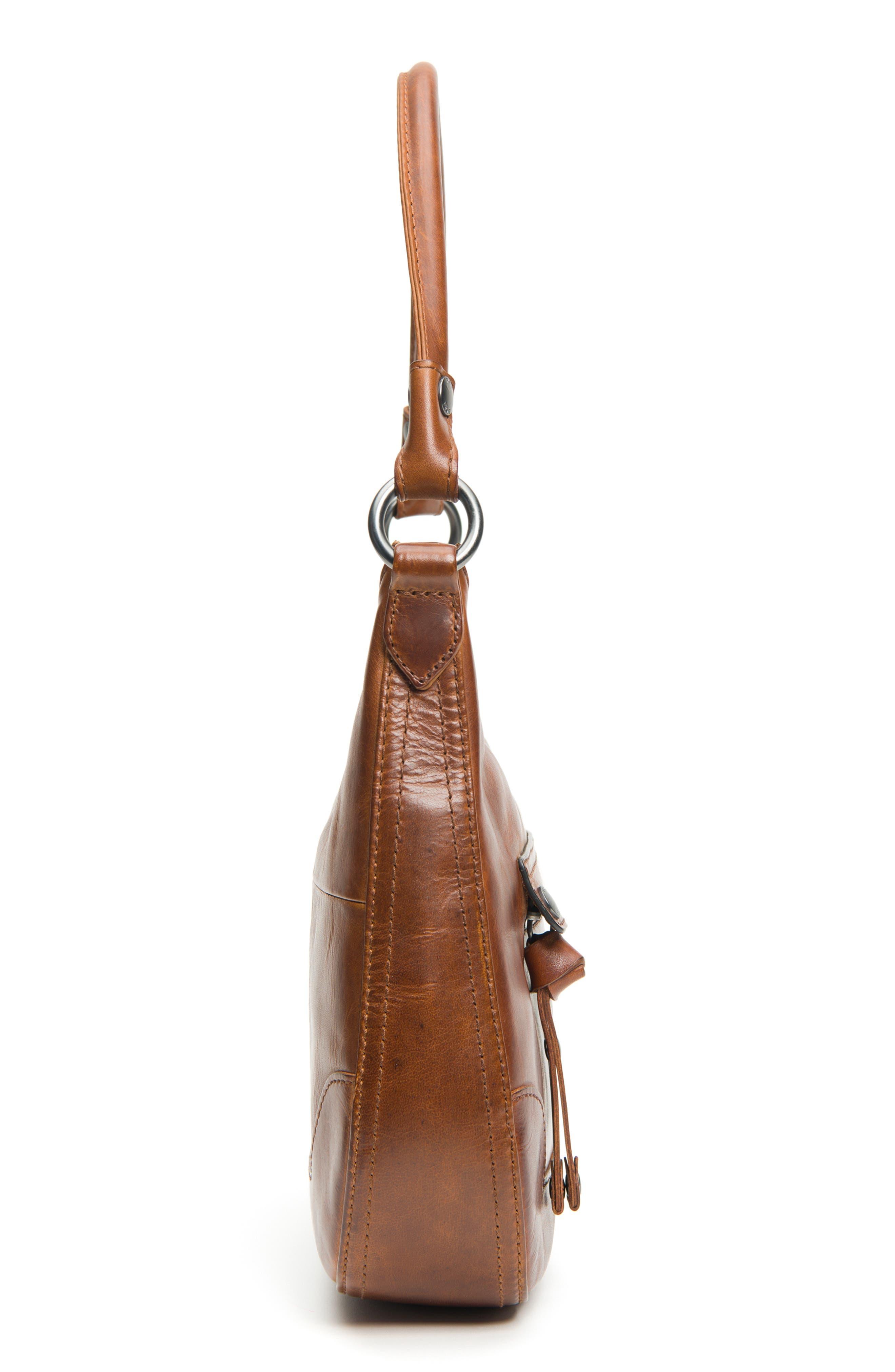 Small Melissa Leather Hobo Bag,                             Alternate thumbnail 9, color,