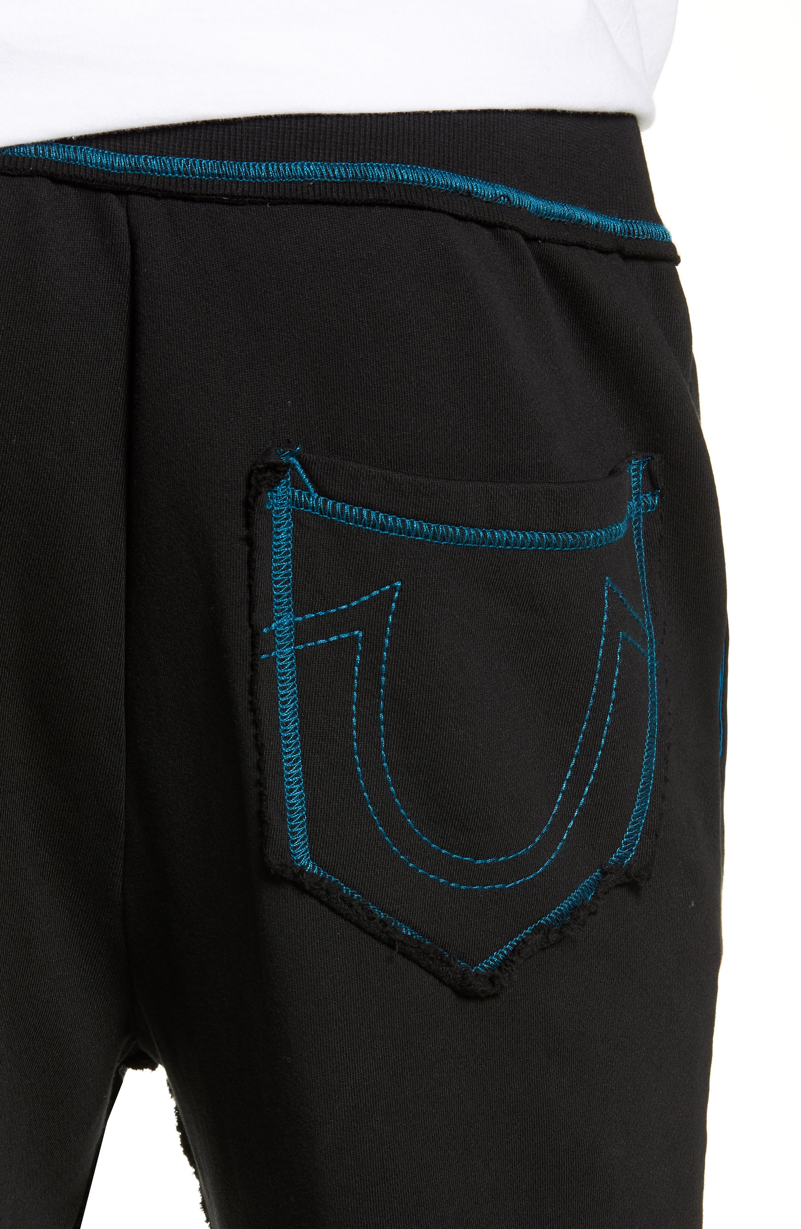 Stained Glass Logo Sweatpants,                             Alternate thumbnail 4, color,                             TRUE BLACK