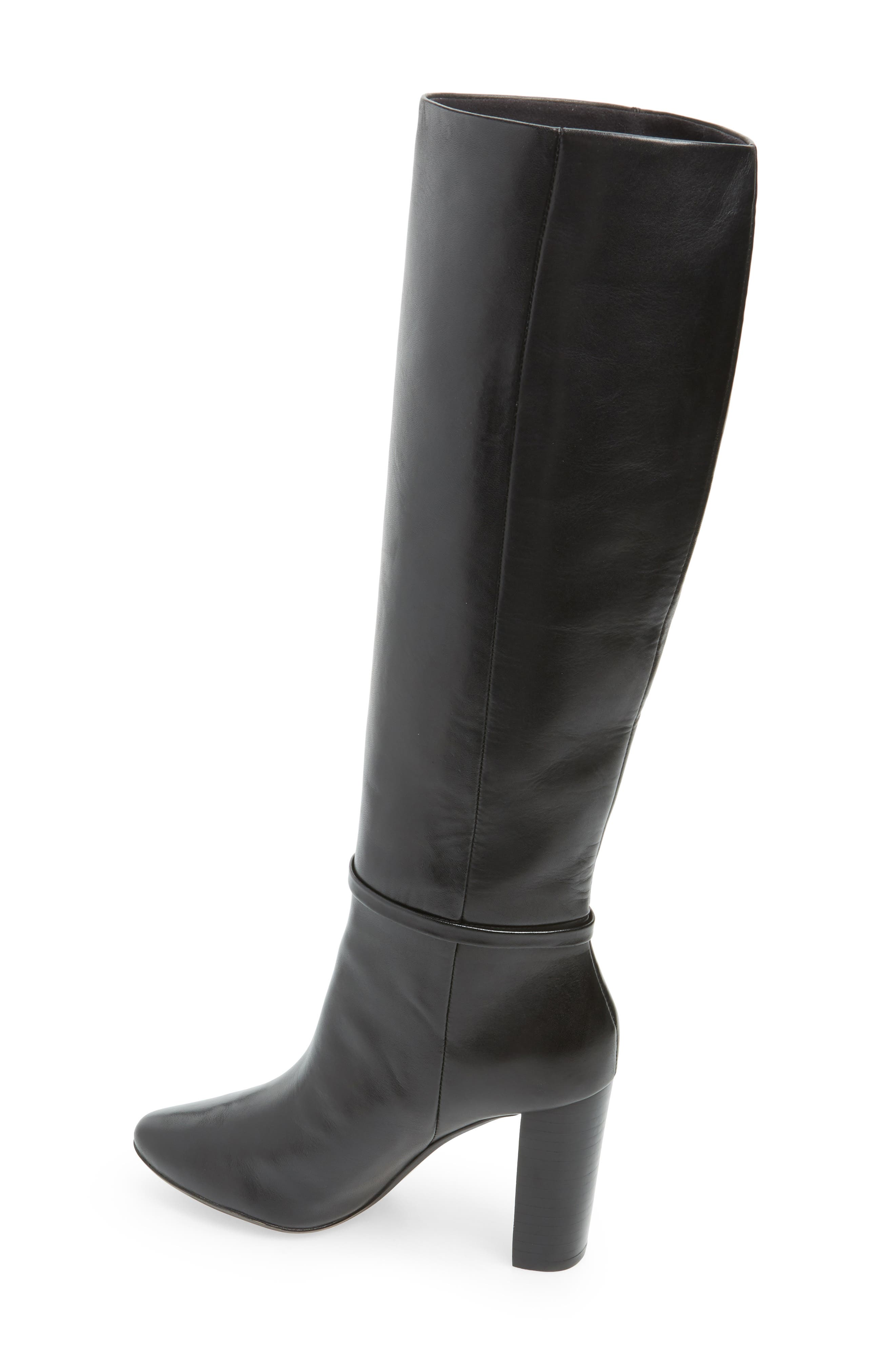 Linaey Knee High Boot,                             Alternate thumbnail 2, color,                             BLACK LEATHER