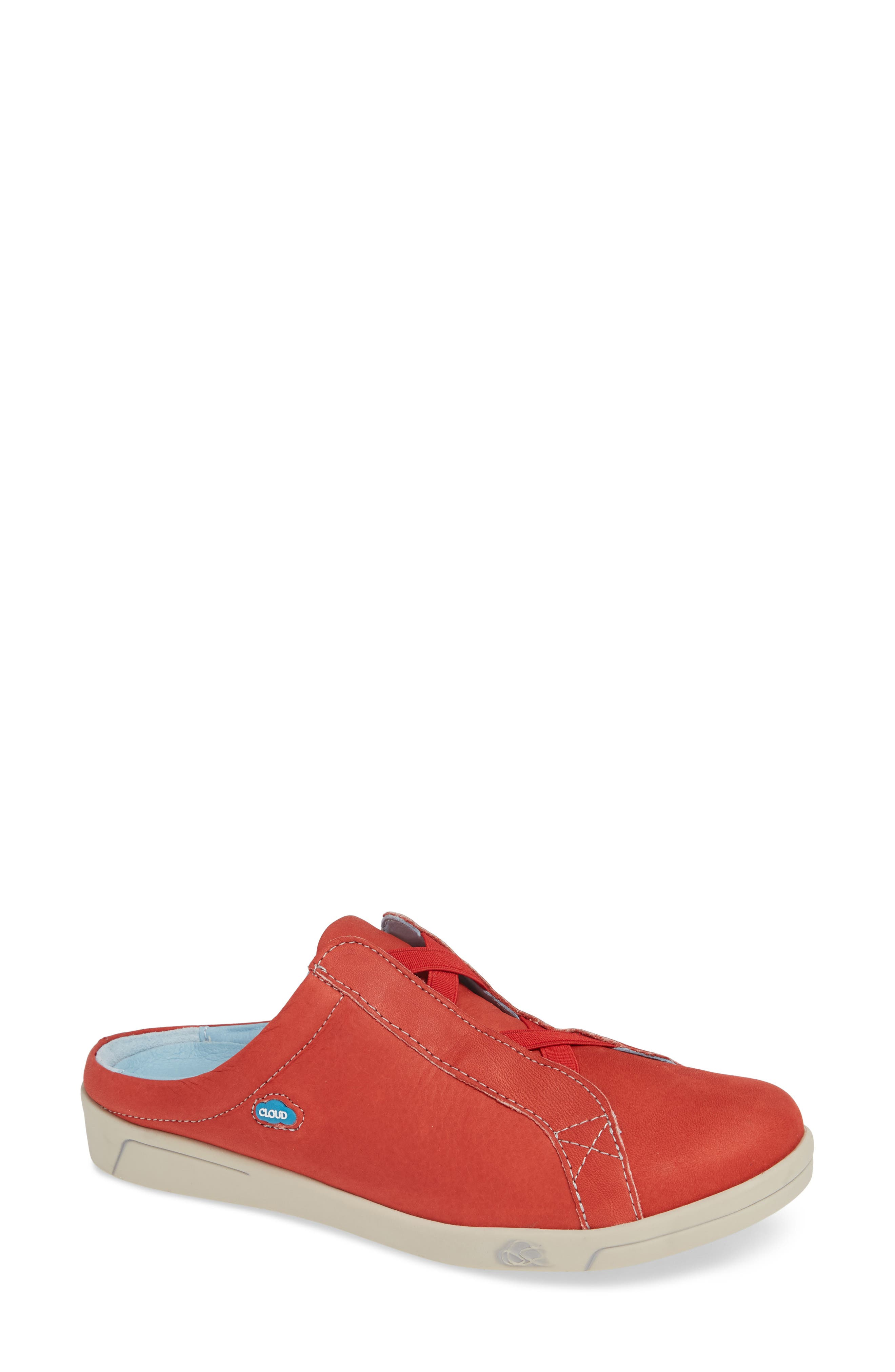 Arizona Sneaker,                             Main thumbnail 1, color,                             RED LEATHER