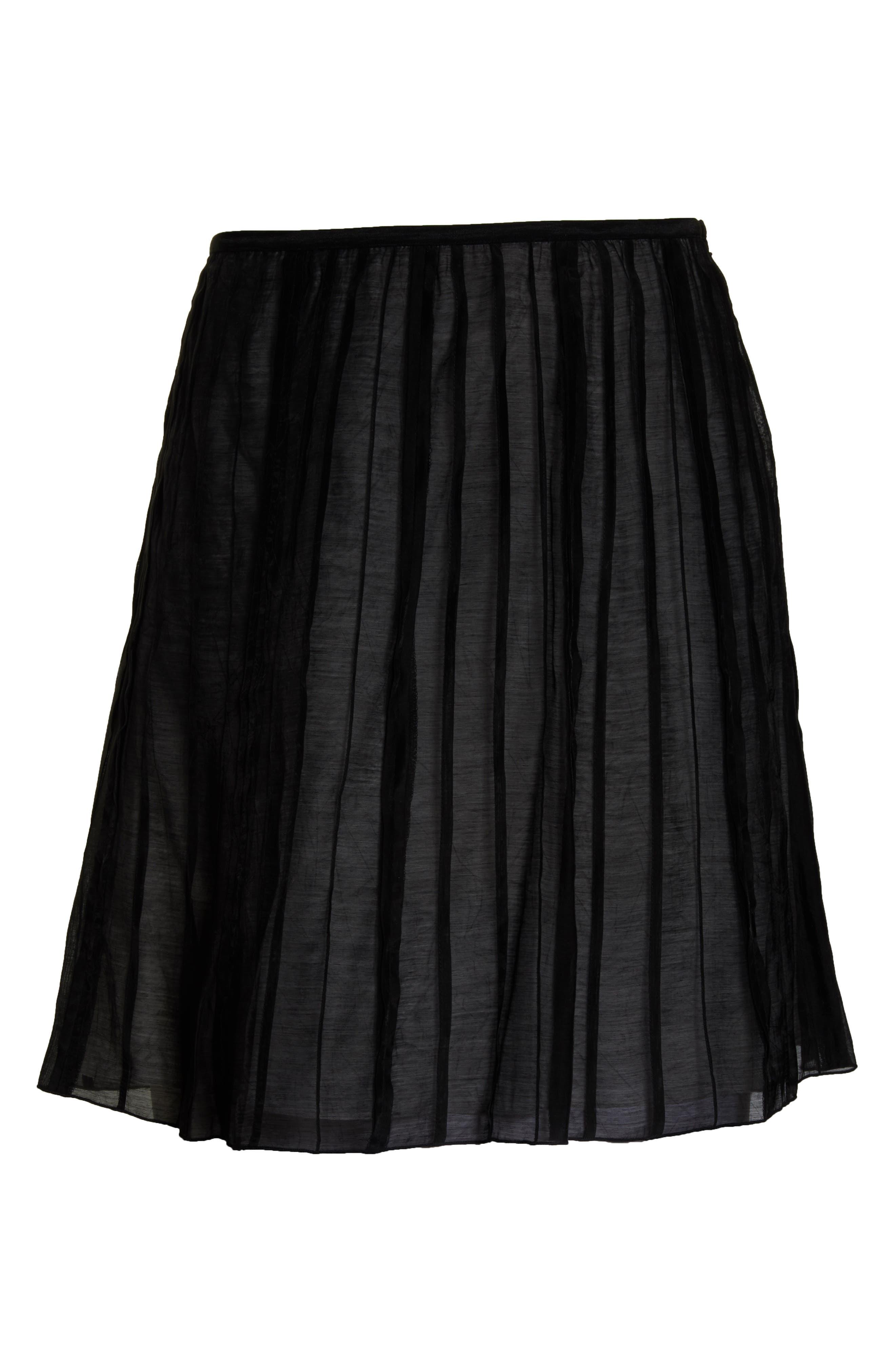 Batiste Flirt Skirt,                             Alternate thumbnail 6, color,                             BLACK ONYX