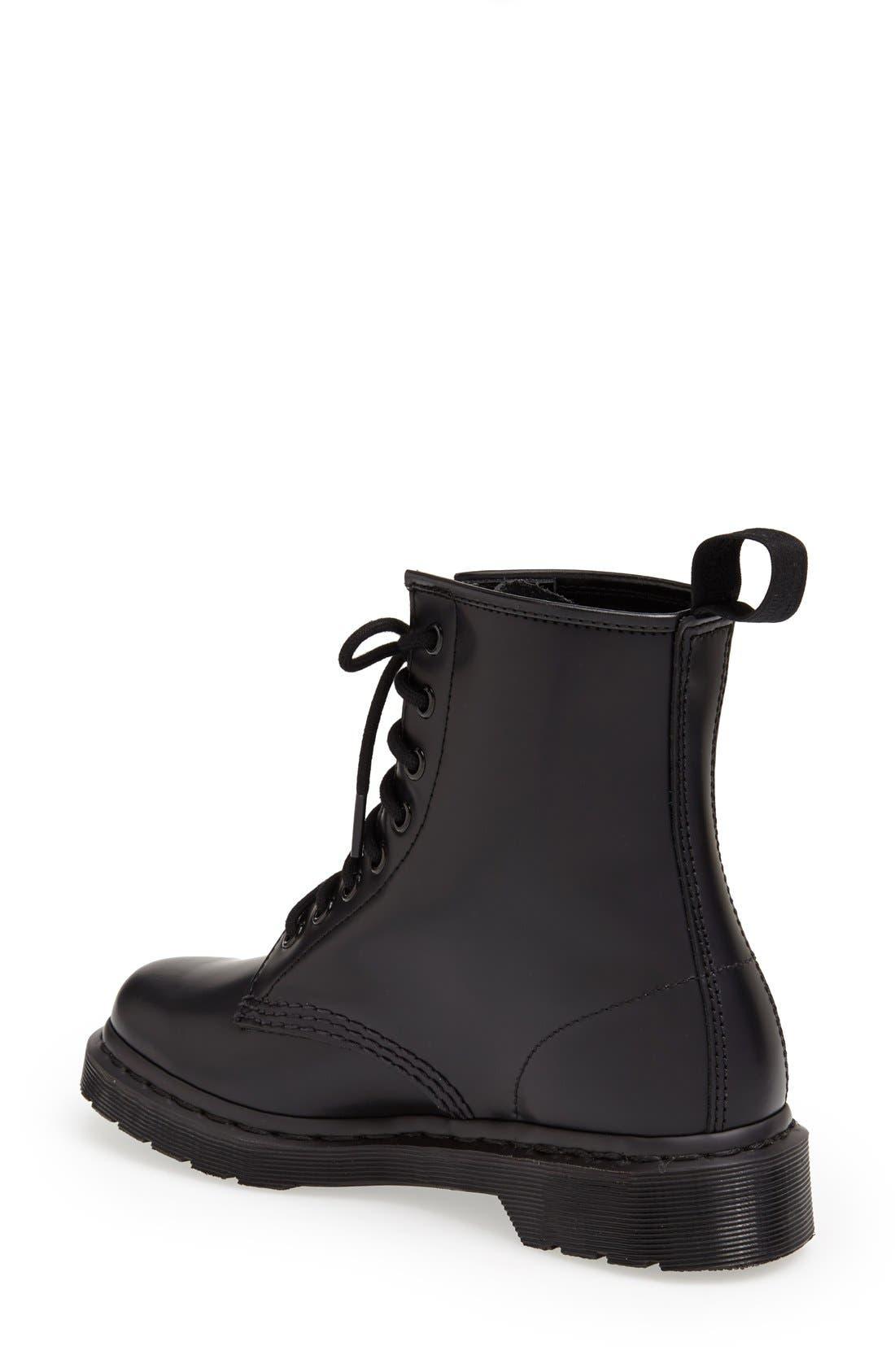 '1460 Mono' Boot,                             Alternate thumbnail 4, color,                             001