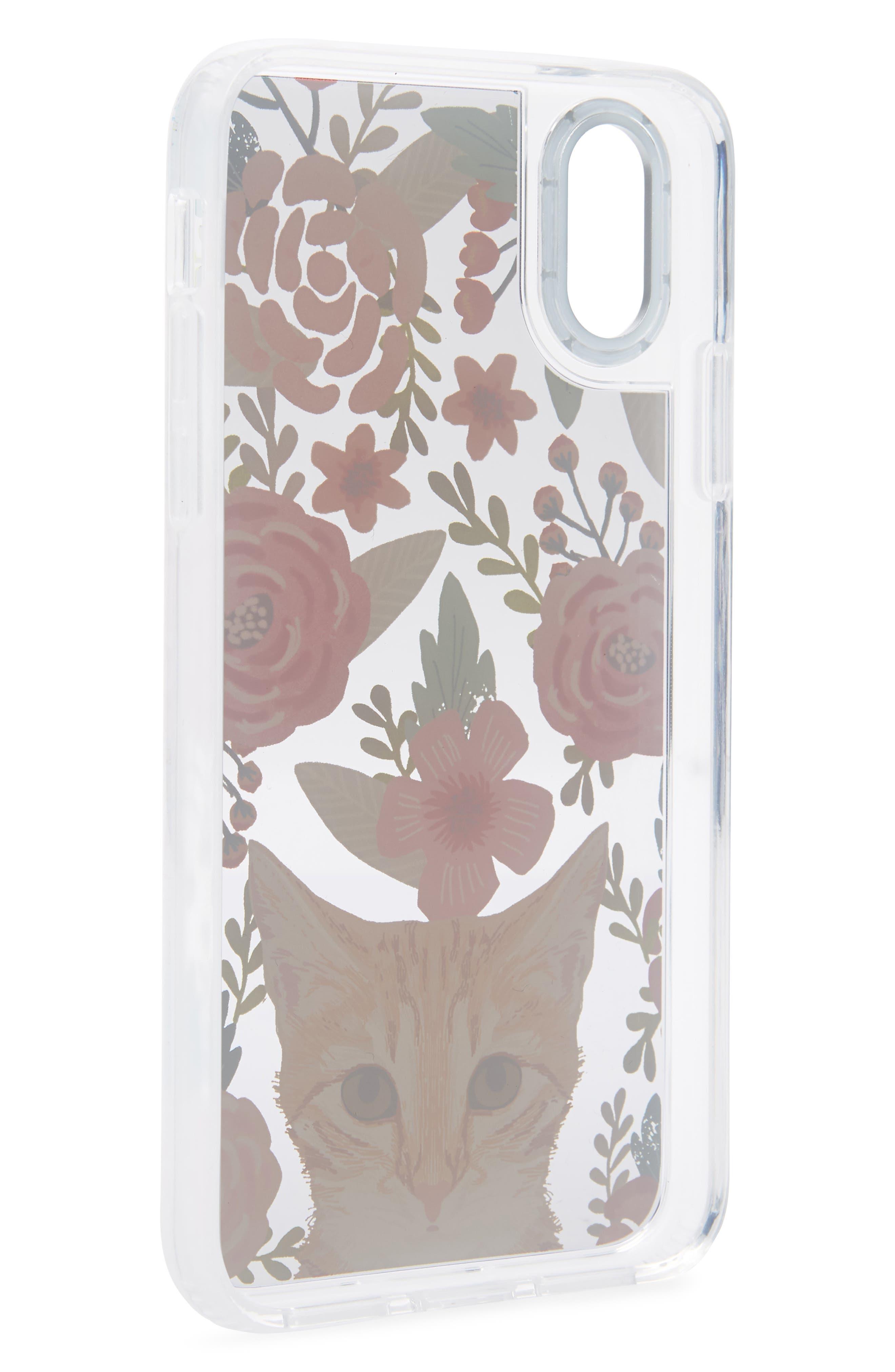 Cat Floral iPhone X/Xs, XR & X Max Case,                             Alternate thumbnail 2, color,                             MULTI ORANGE