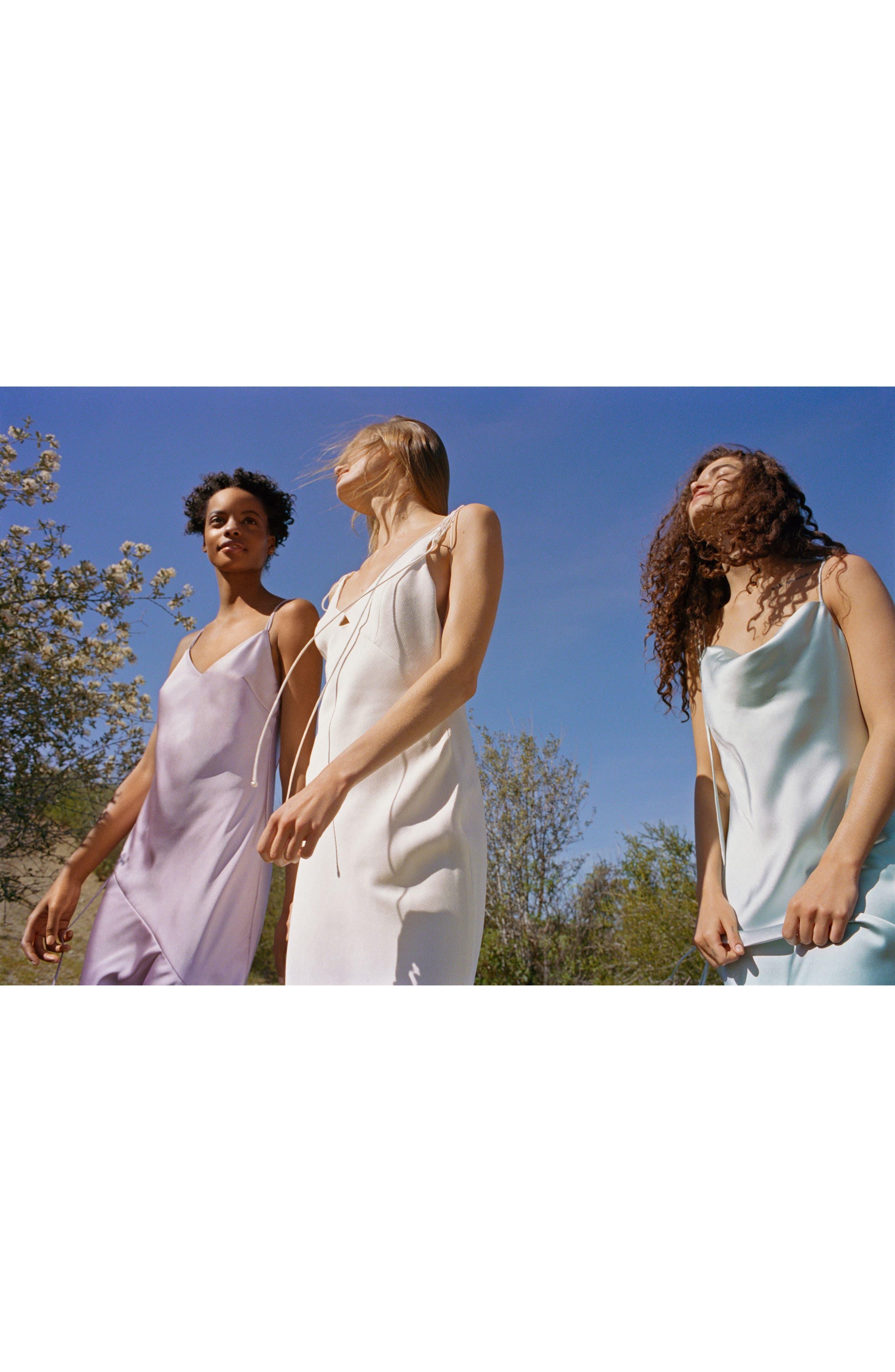 Bride V-Neck Satin Sheath Gown,                             Alternate thumbnail 9, color,                             900