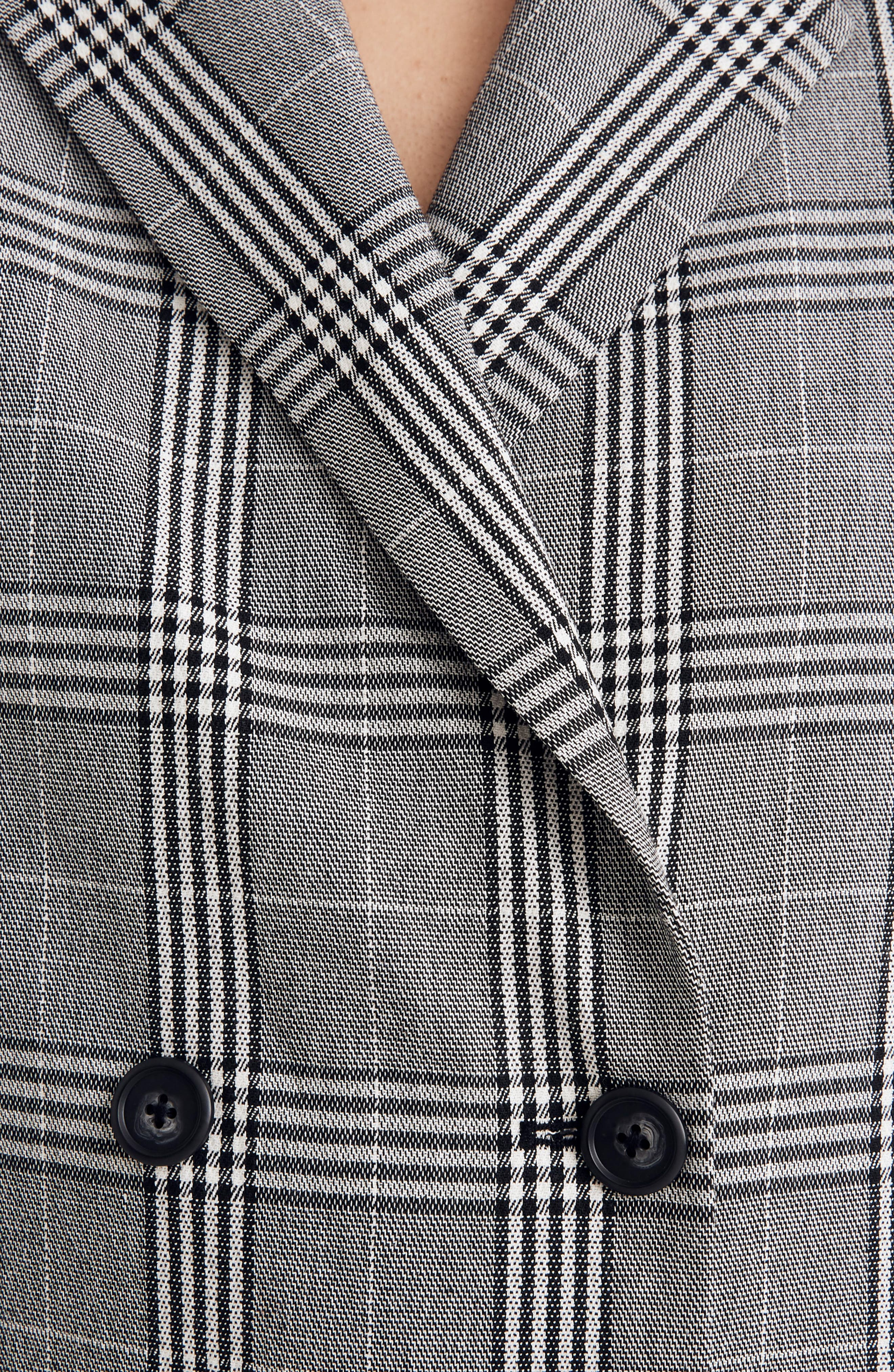 Caldwell Plaid Double Breasted Blazer,                             Alternate thumbnail 3, color,                             CLASSIC BLACK