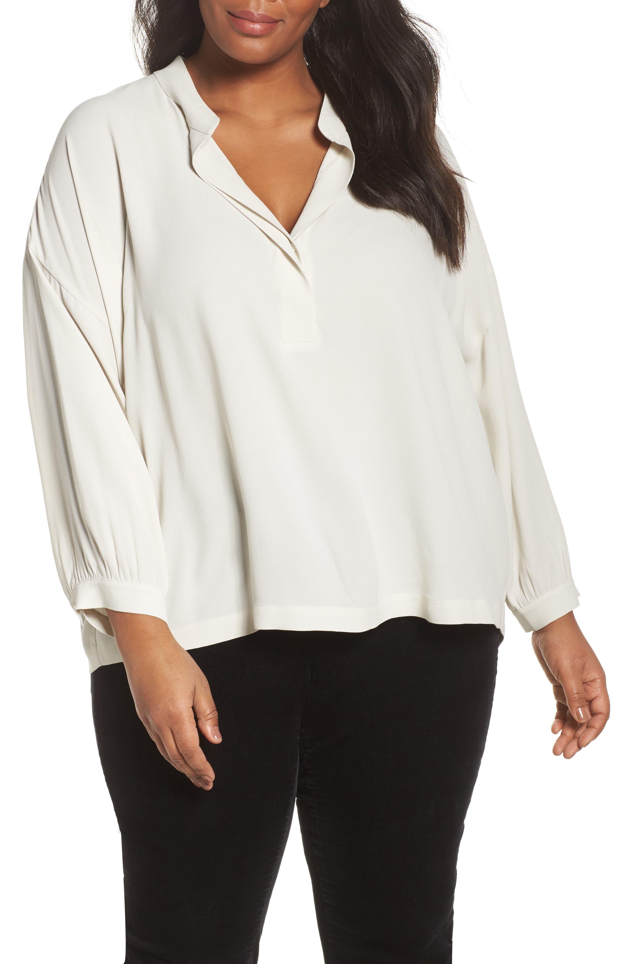 Silk Shirt,                         Main,                         color, 907