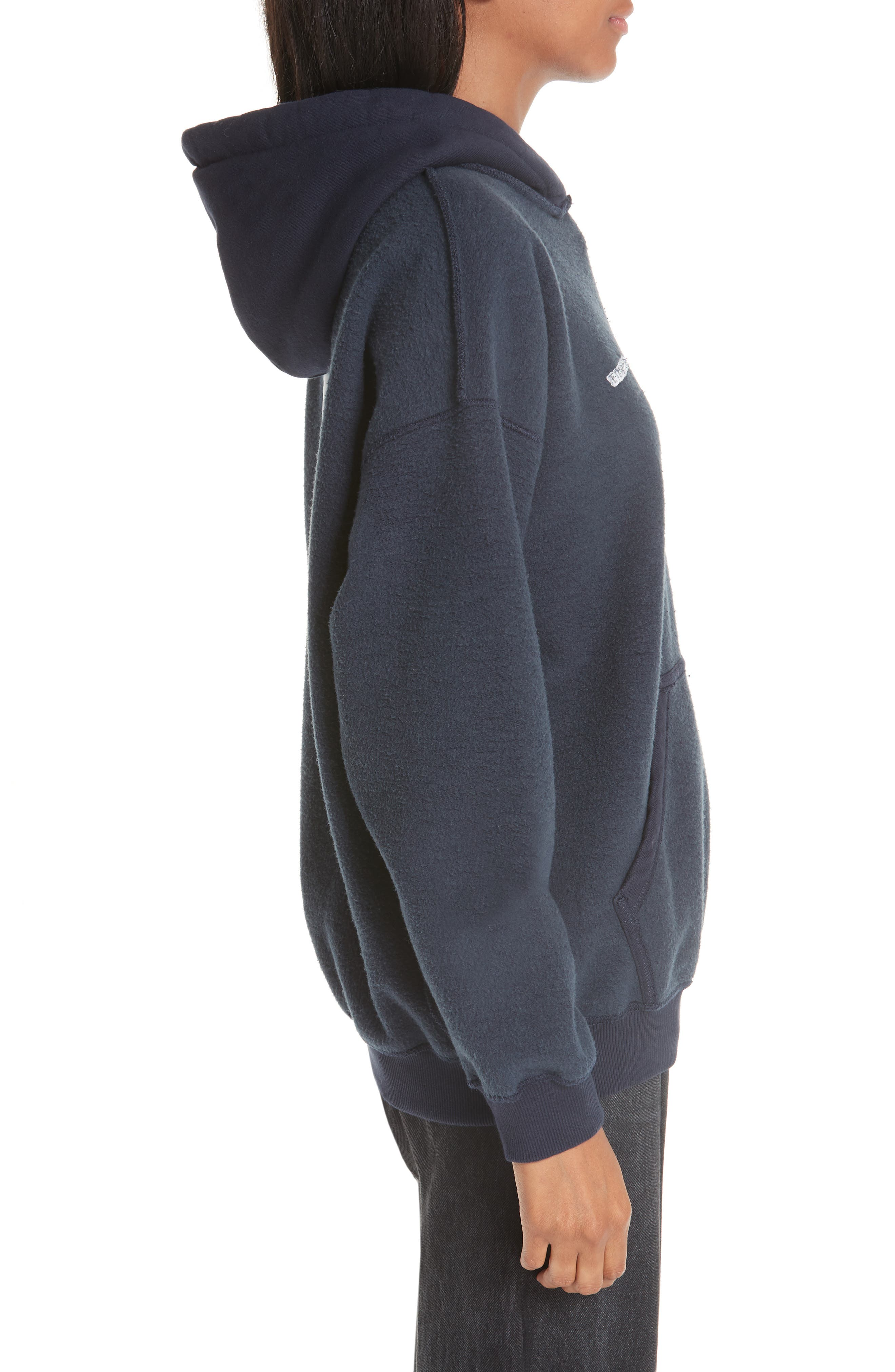 Inside-Out Hoodie,                             Alternate thumbnail 3, color,                             NAVY