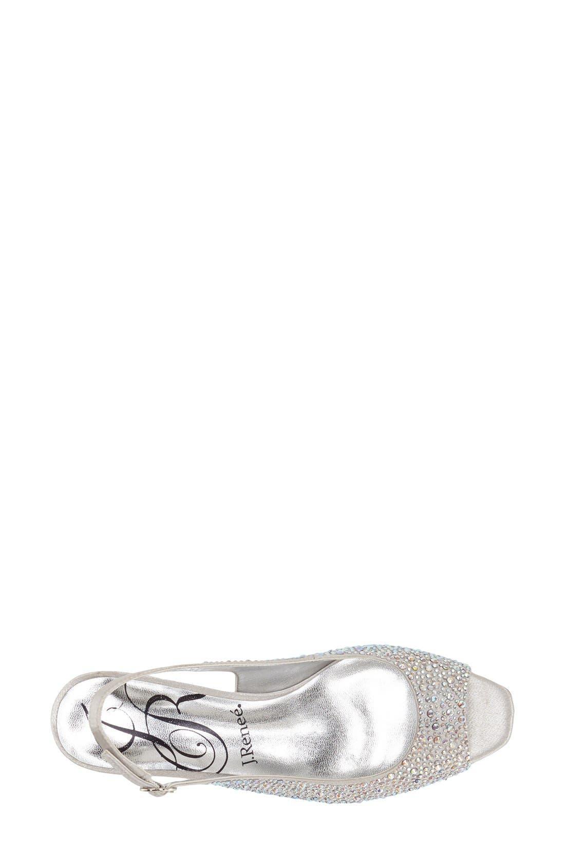 'Impuls' Crystal Embellished Slingback Pump,                             Alternate thumbnail 3, color,                             SILVER