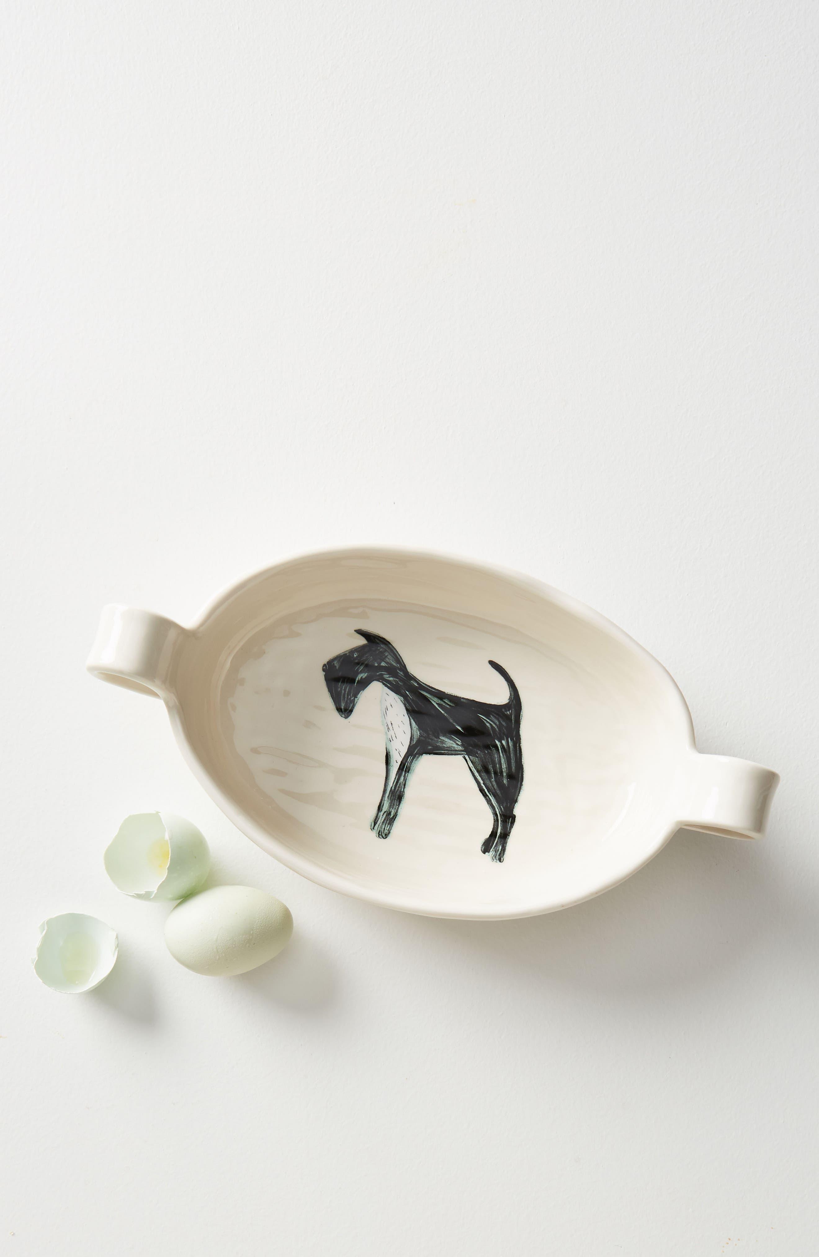 Painted Pup Stoneware Gratin Dish,                             Alternate thumbnail 4, color,