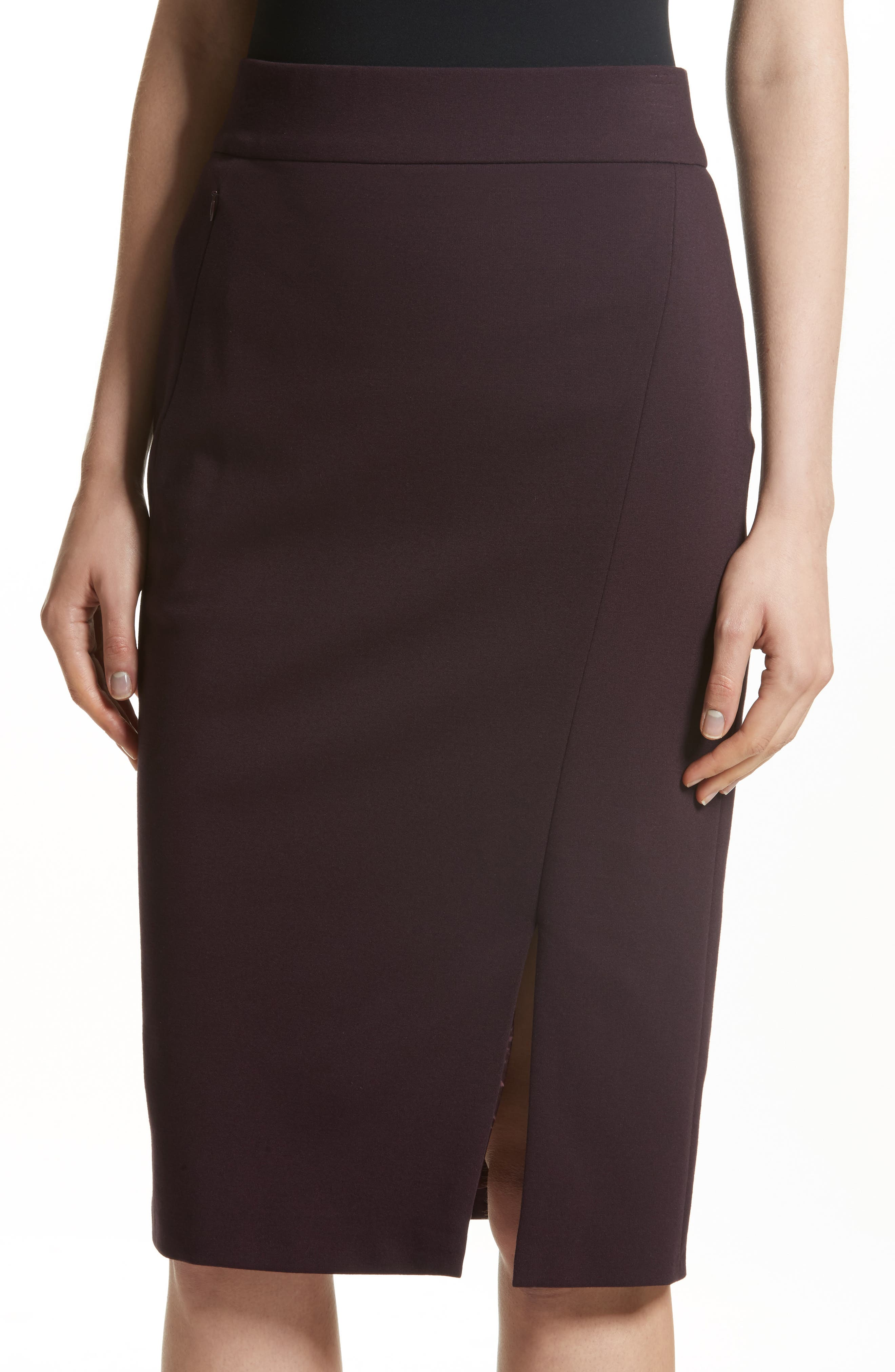 Gabardine Pencil Skirt,                             Alternate thumbnail 4, color,                             930