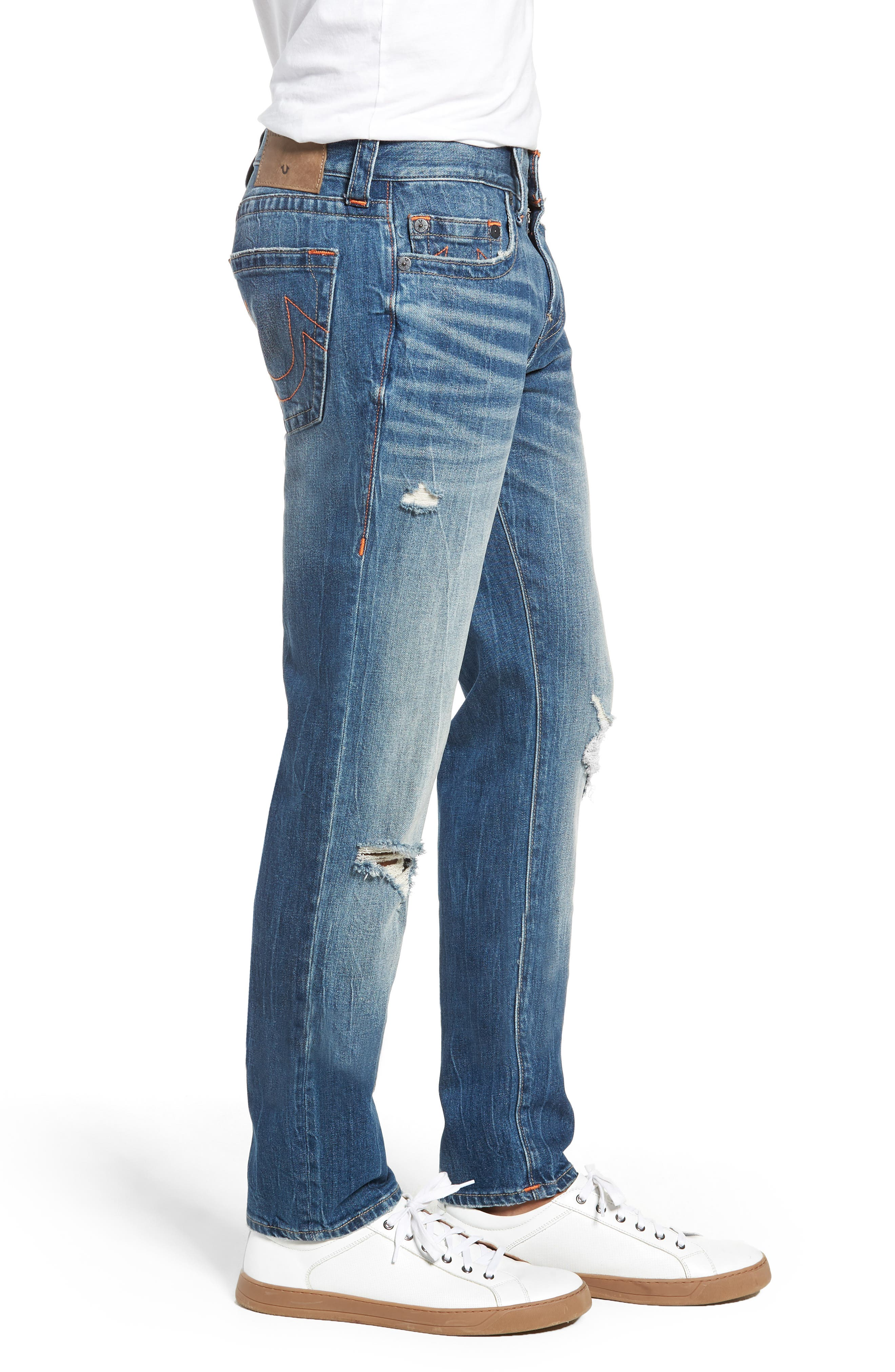 Rocco Skinny Fit Jeans,                             Alternate thumbnail 3, color,                             WORN RAMPAGE