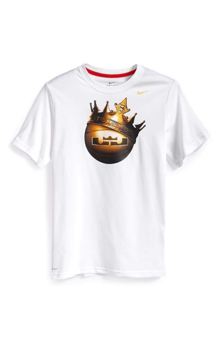 Nike  LeBron Crown Ball  Graphic Dri-FIT T-Shirt (Big Boys)  737086dde