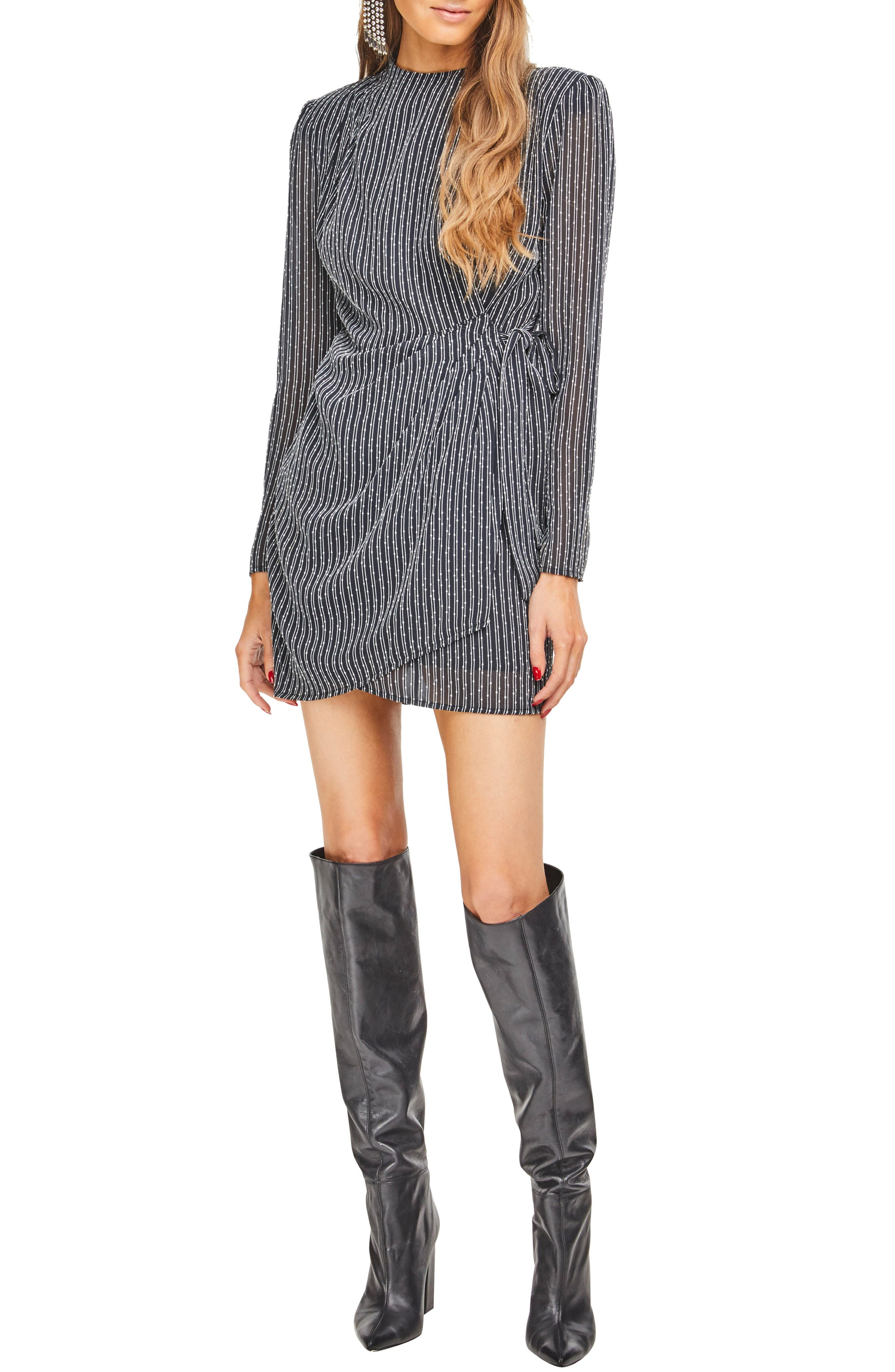 Astr The Label Jolene Minidress, Black