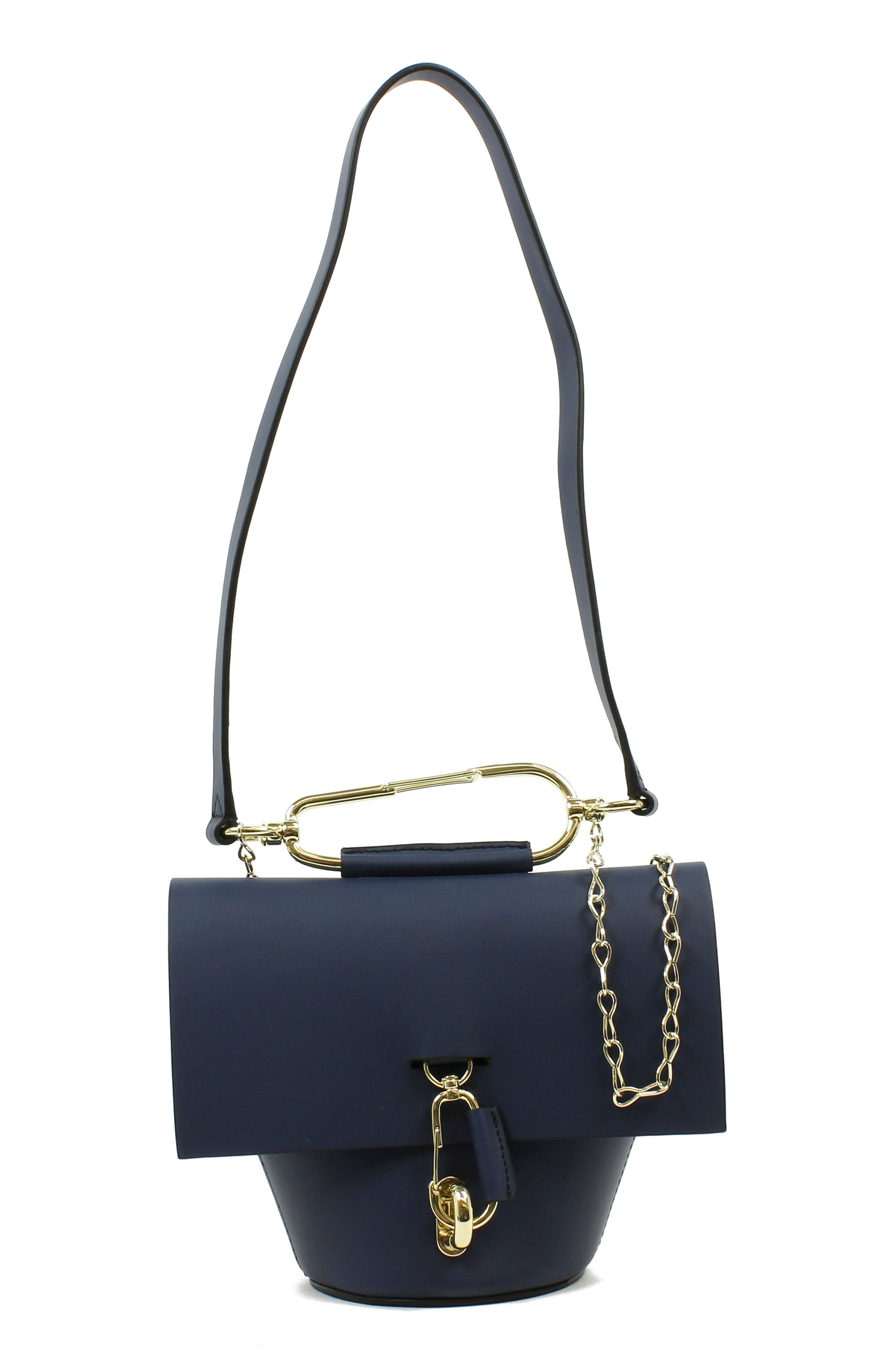 Belay Chain Calfskin Leather Crossbody Bag,                             Main thumbnail 3, color,