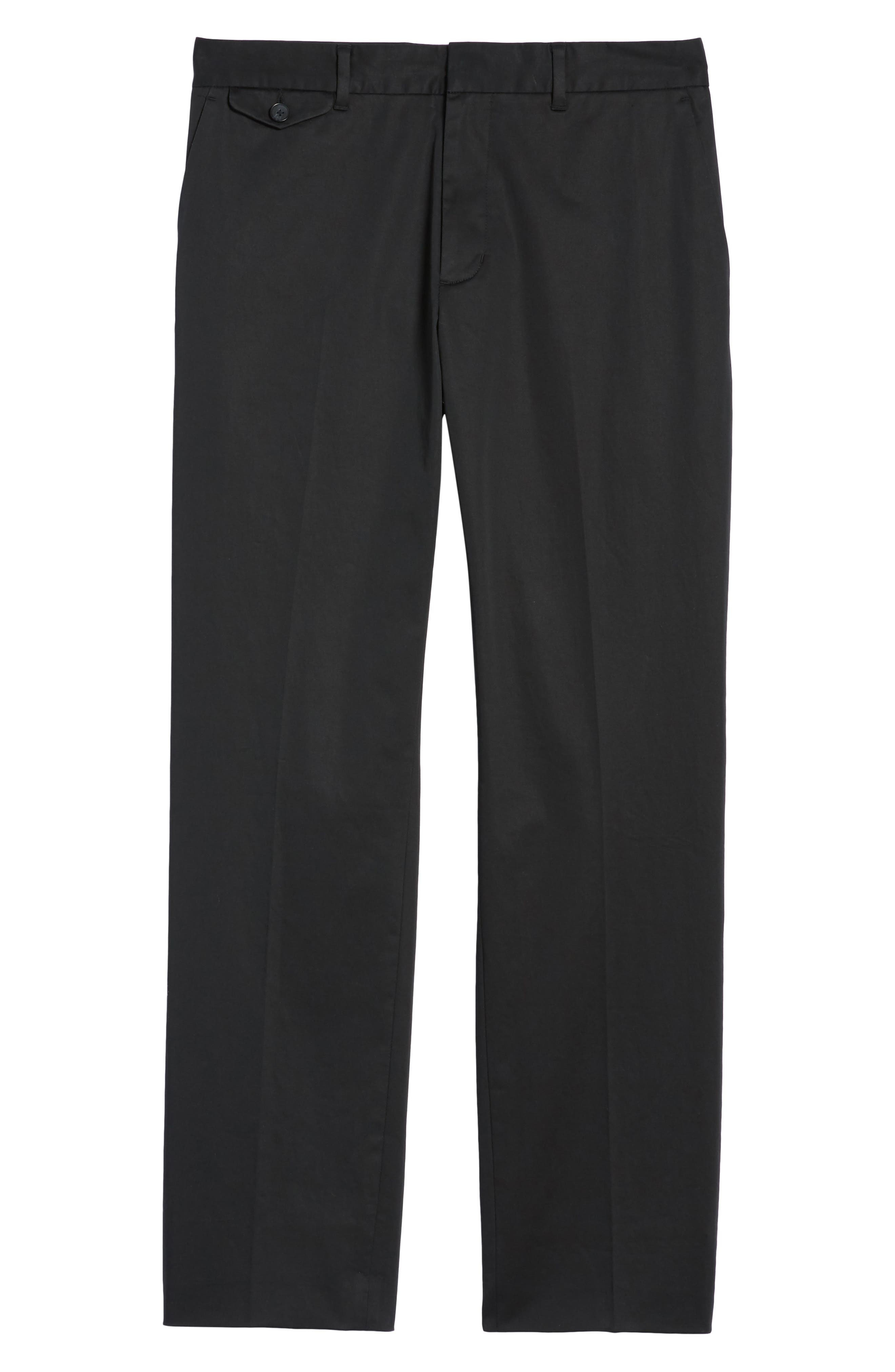 Officer Flat Front Chino Pants,                             Alternate thumbnail 6, color,                             001