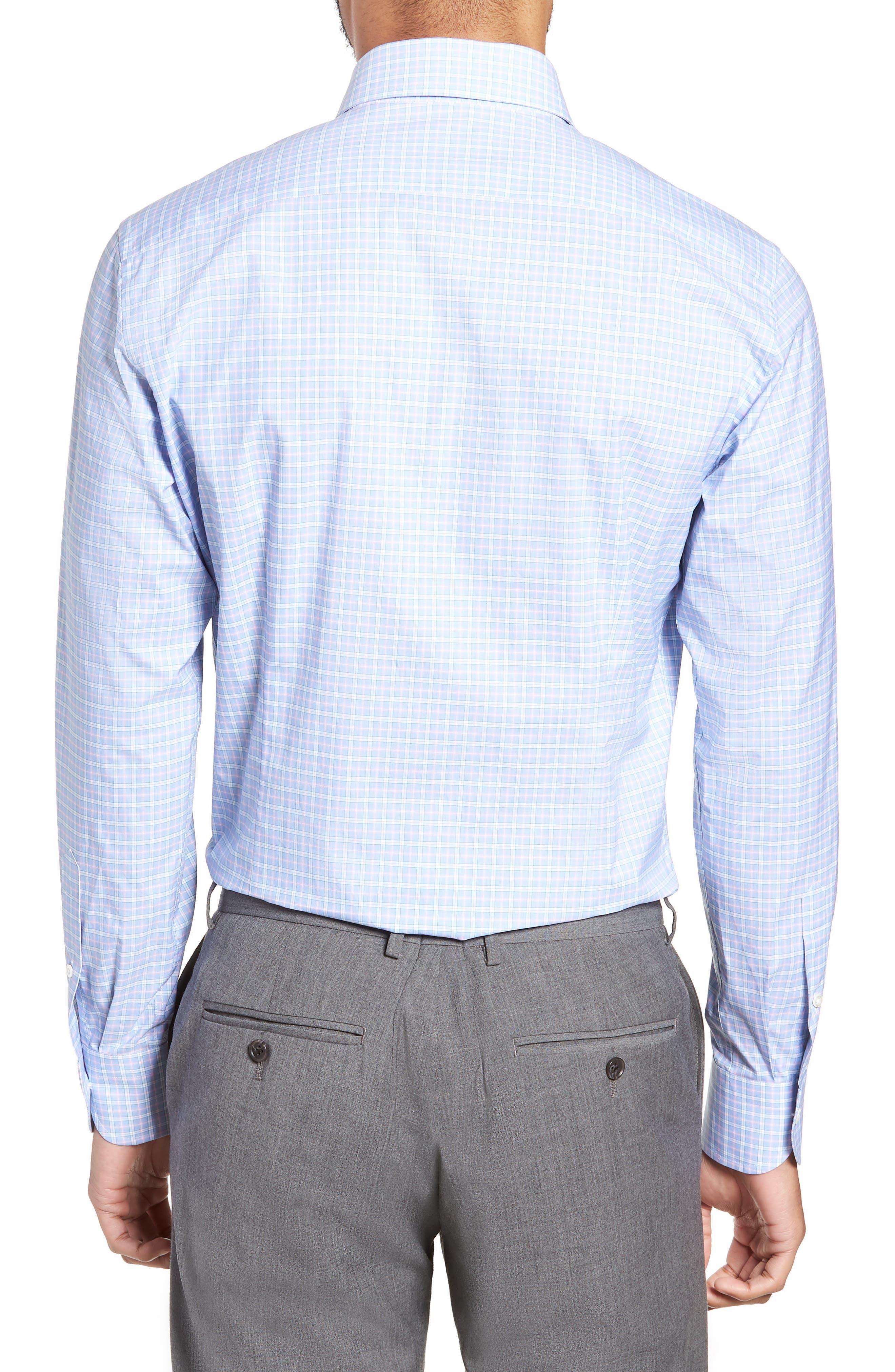 Ferris Slim Fit Check Dress Shirt,                             Alternate thumbnail 3, color,                             LIGHT/ PASTEL BLUE