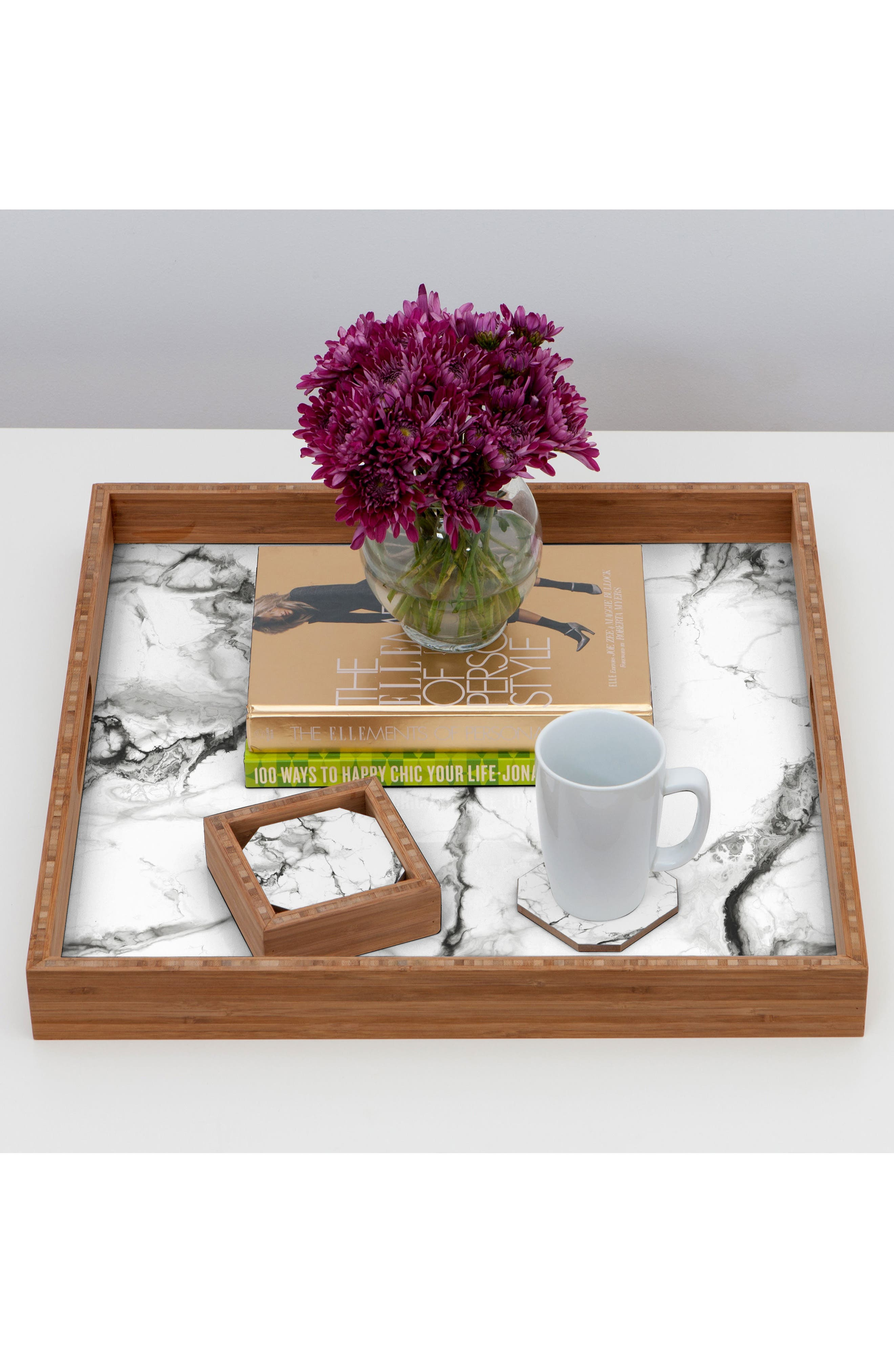 Marble Set of 4 Coasters,                             Alternate thumbnail 3, color,                             100