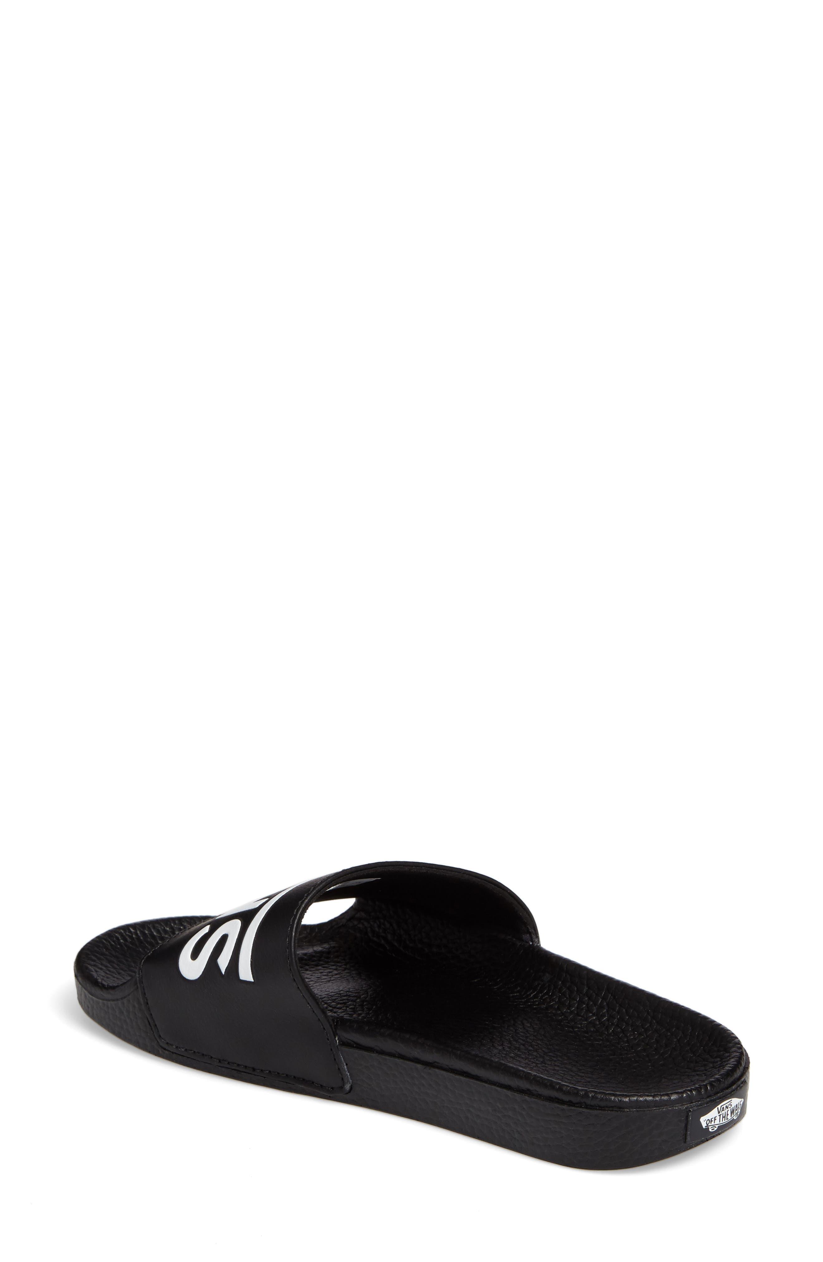 Slide-On Sandal,                             Alternate thumbnail 2, color,                             BLACK
