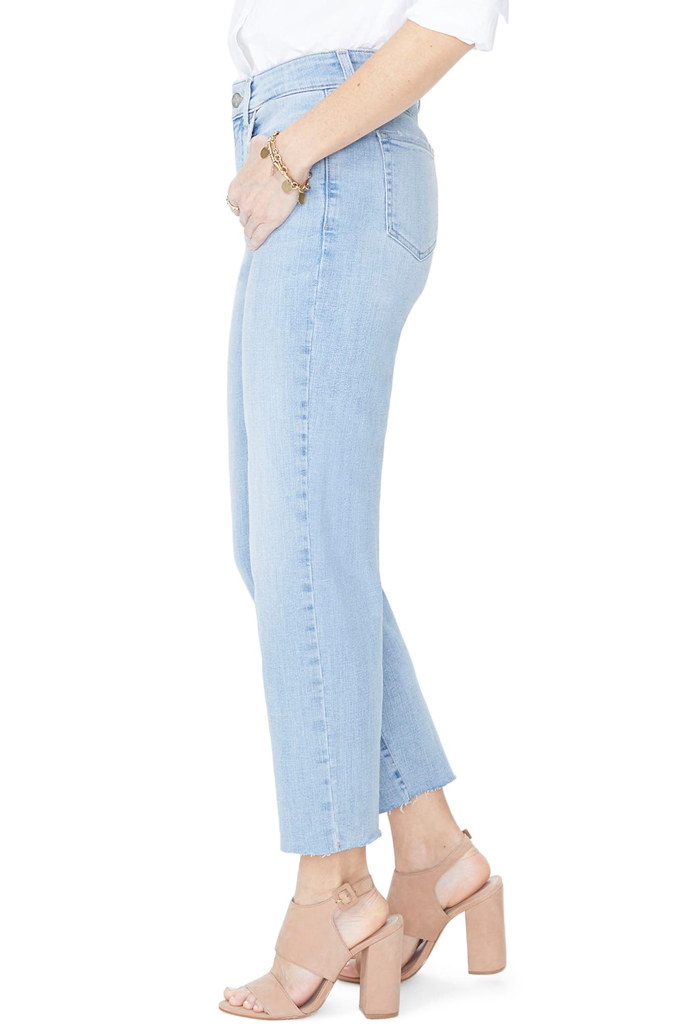 Jenna Straight Leg Raw Hem Ankle Jeans,                             Alternate thumbnail 3, color,                             WANDERLUST