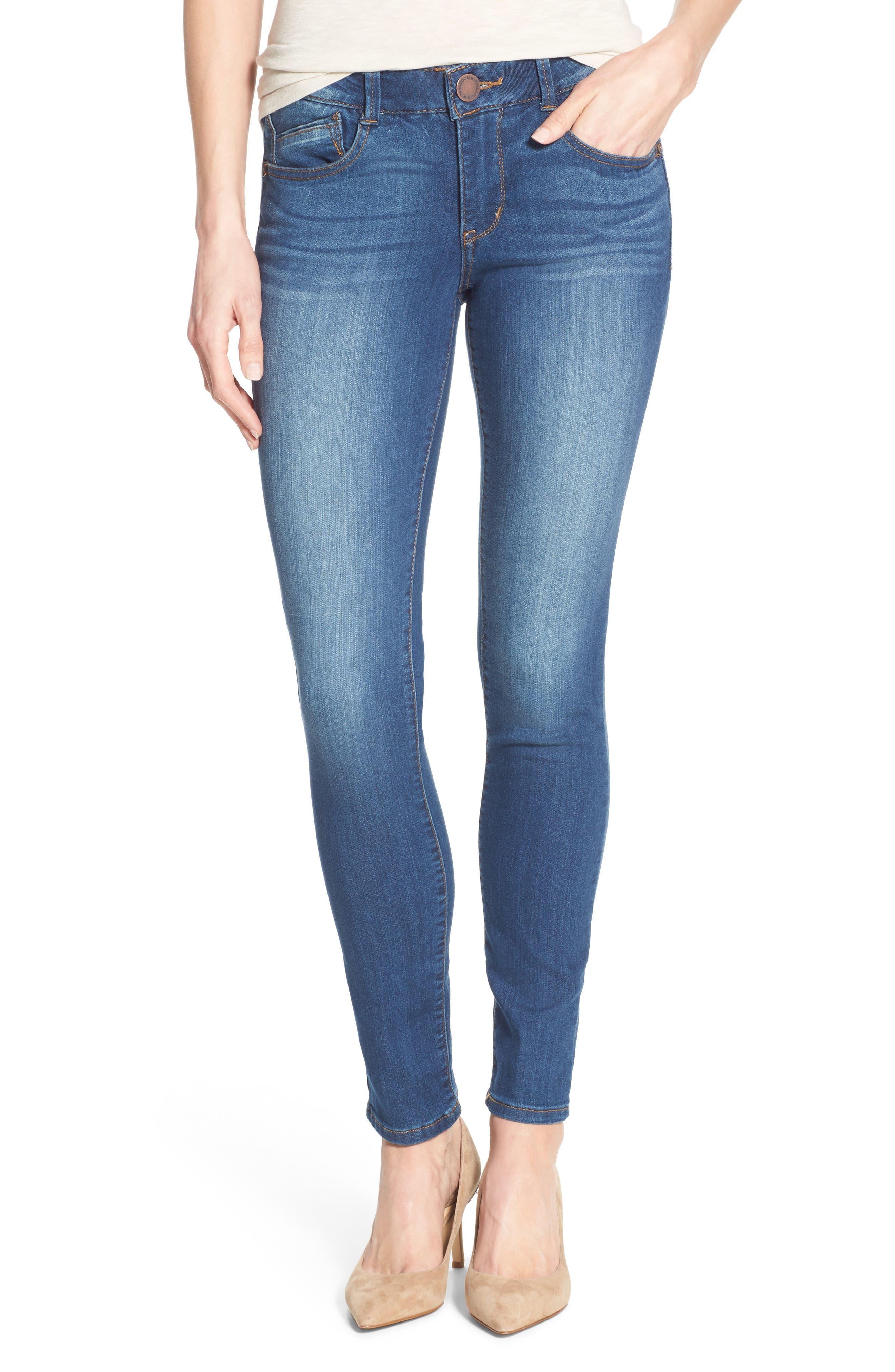 Ab-solution Stretch Skinny Jeans (Regular & Petite),                         Main,                         color, 421