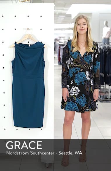High Neck Sheath Dress, sales video thumbnail