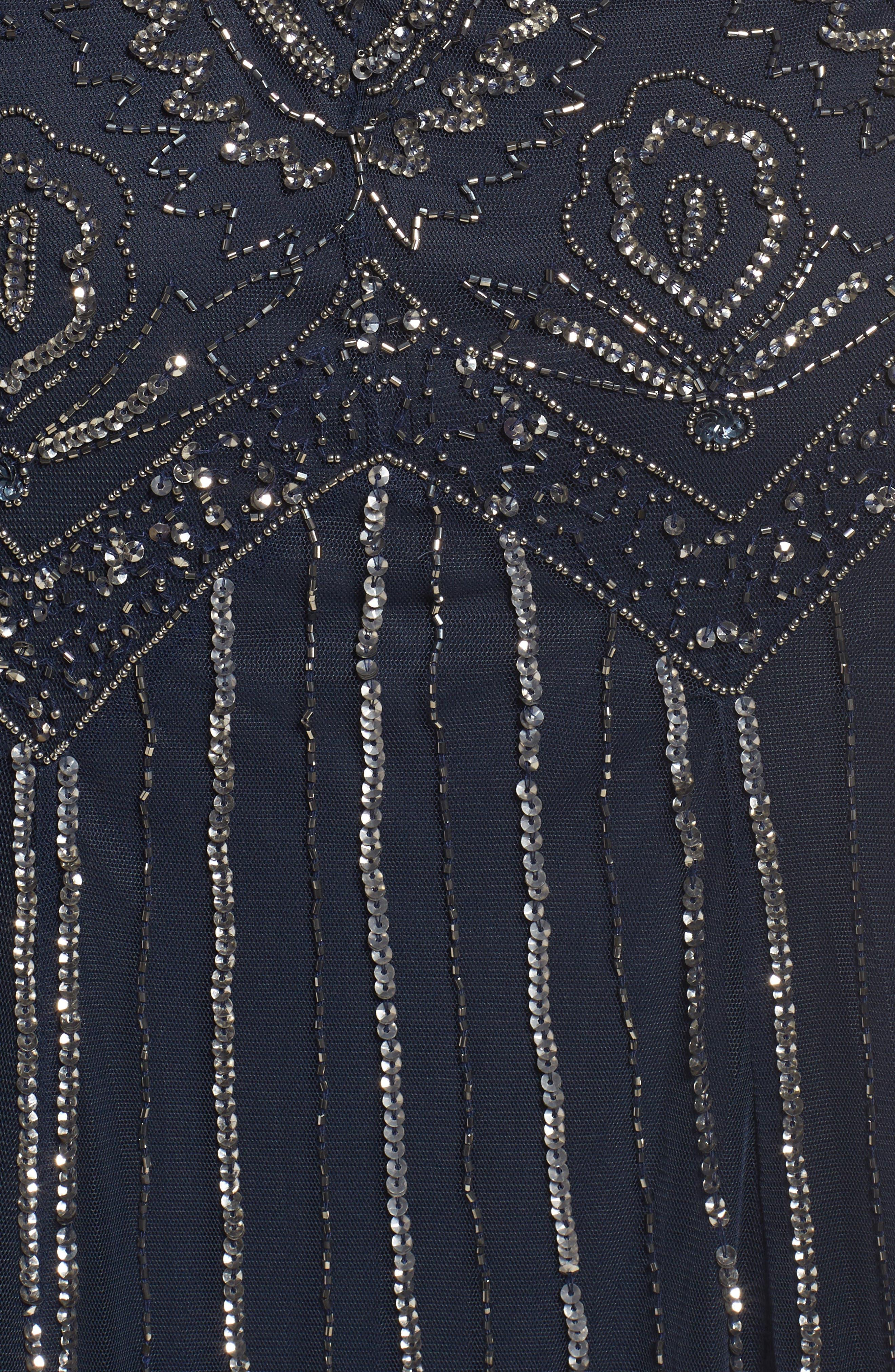 Beaded V-Neck Gown & Jacket,                             Alternate thumbnail 20, color,
