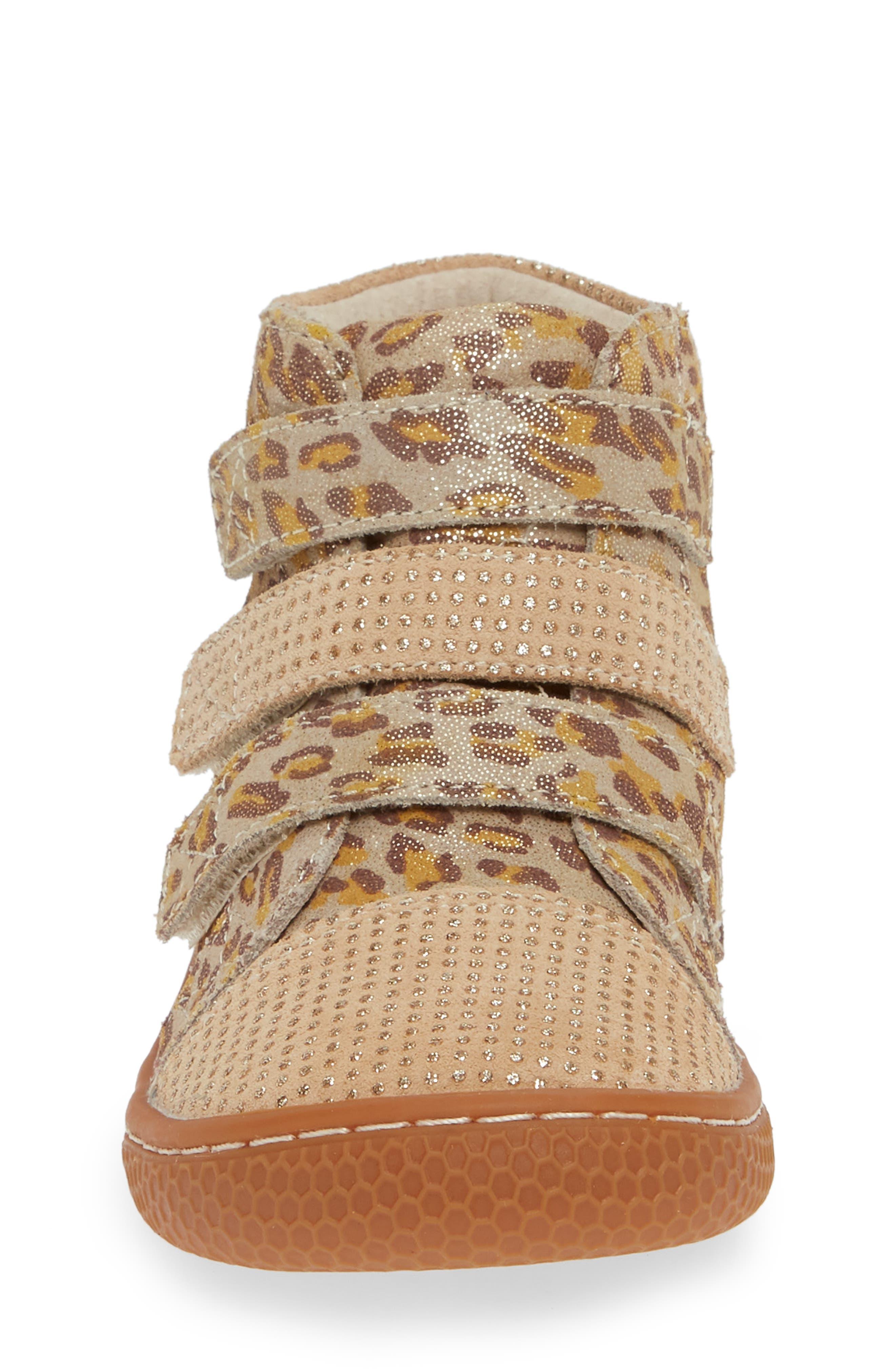 'Jamie' High Top Sneaker,                             Alternate thumbnail 4, color,                             LEOPARD SHIMMER