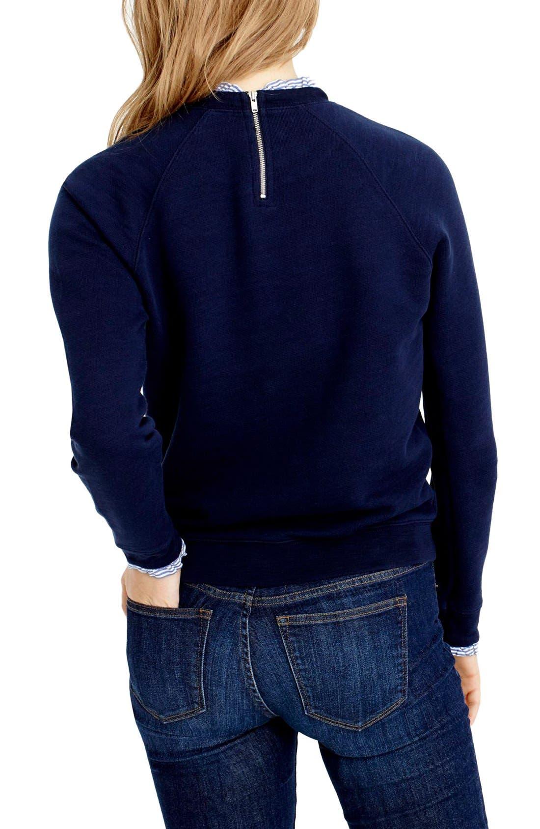 Ruffle Trim Sweatshirt,                             Alternate thumbnail 2, color,                             400