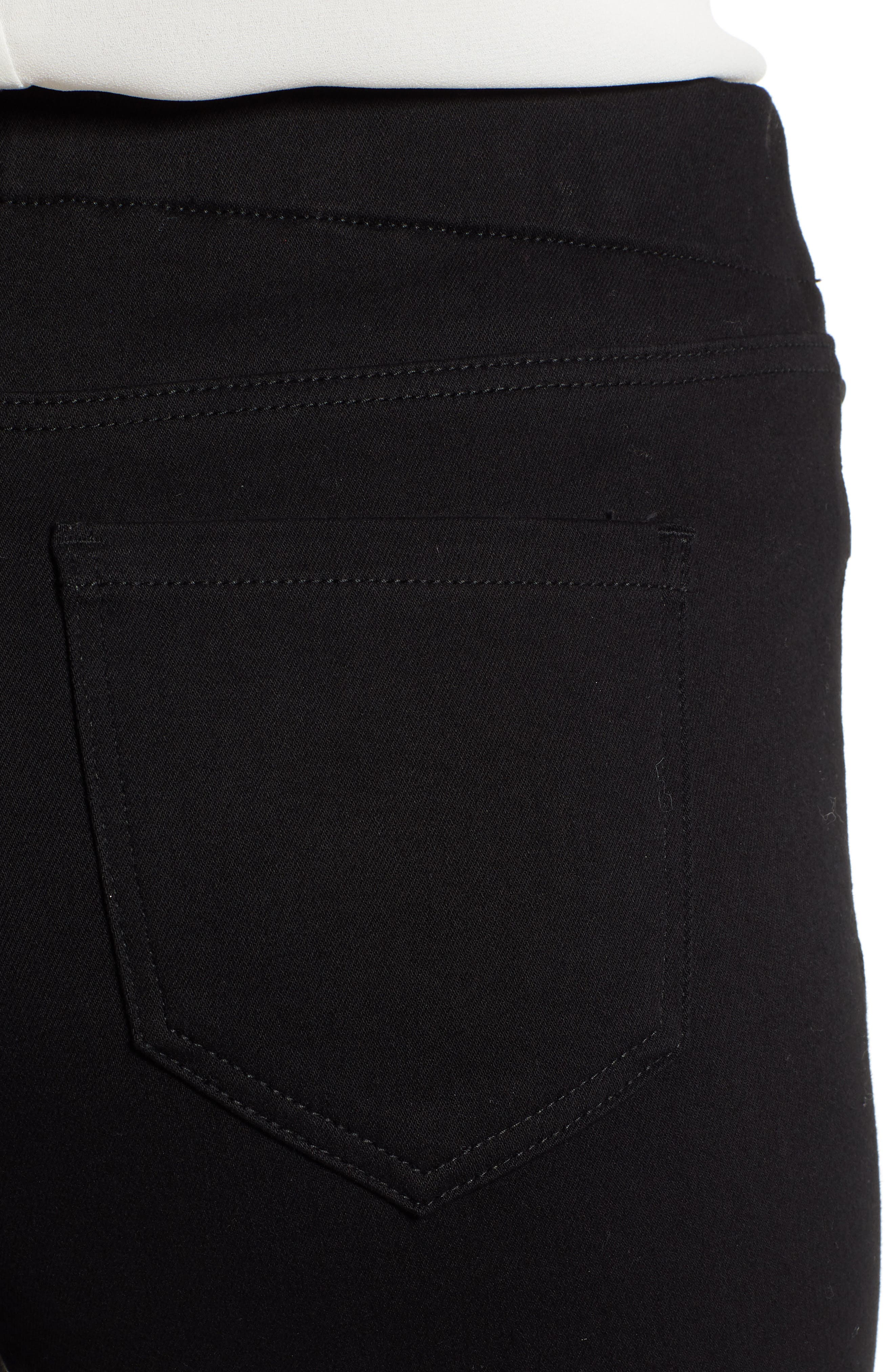 Chloe Pull-On Stretch Skinny Ankle Jeans,                             Alternate thumbnail 4, color,                             BLACK RINSE