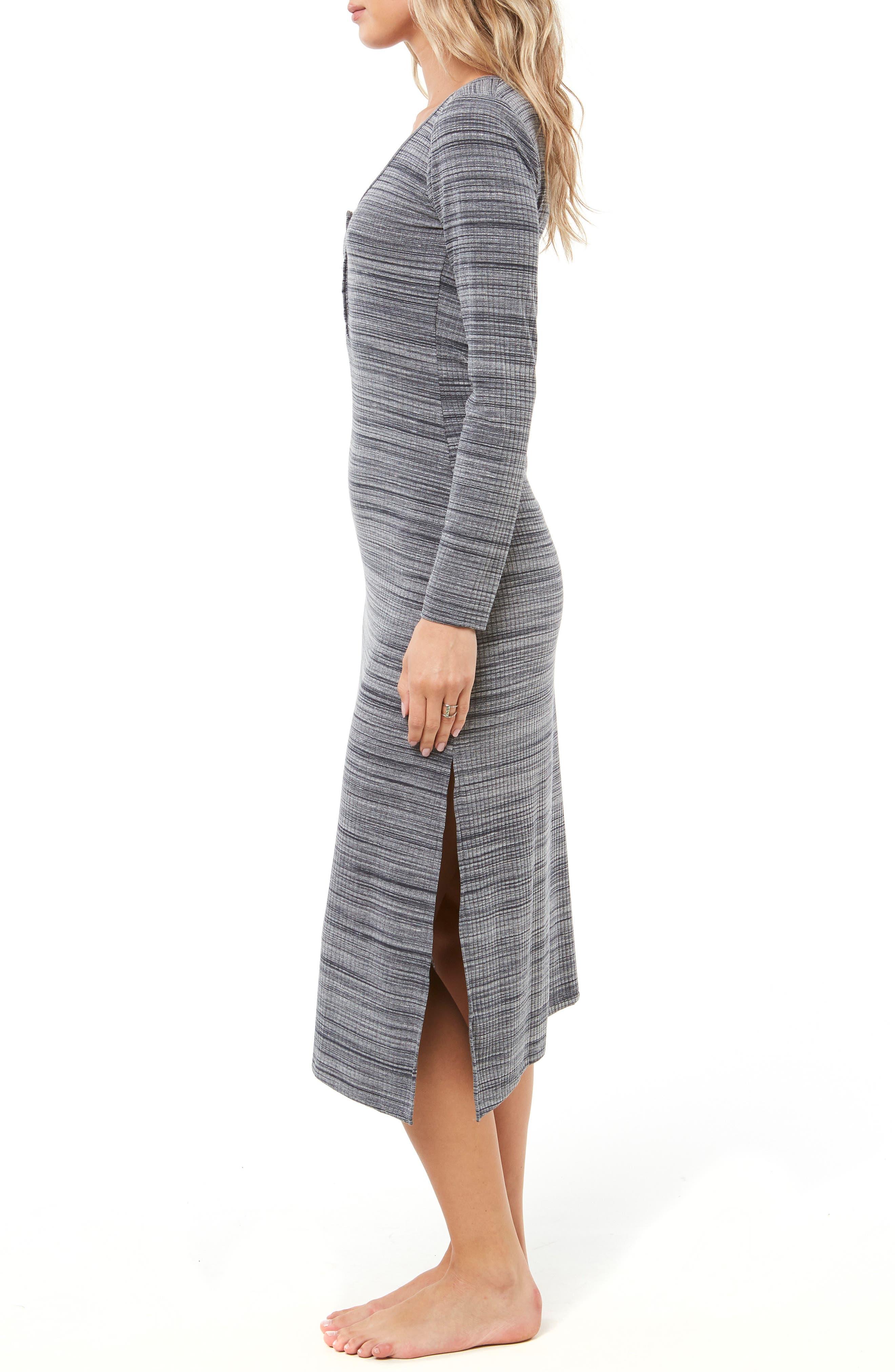 Shellsea Knit Midi Dress,                             Alternate thumbnail 3, color,                             INDIAN TEAL