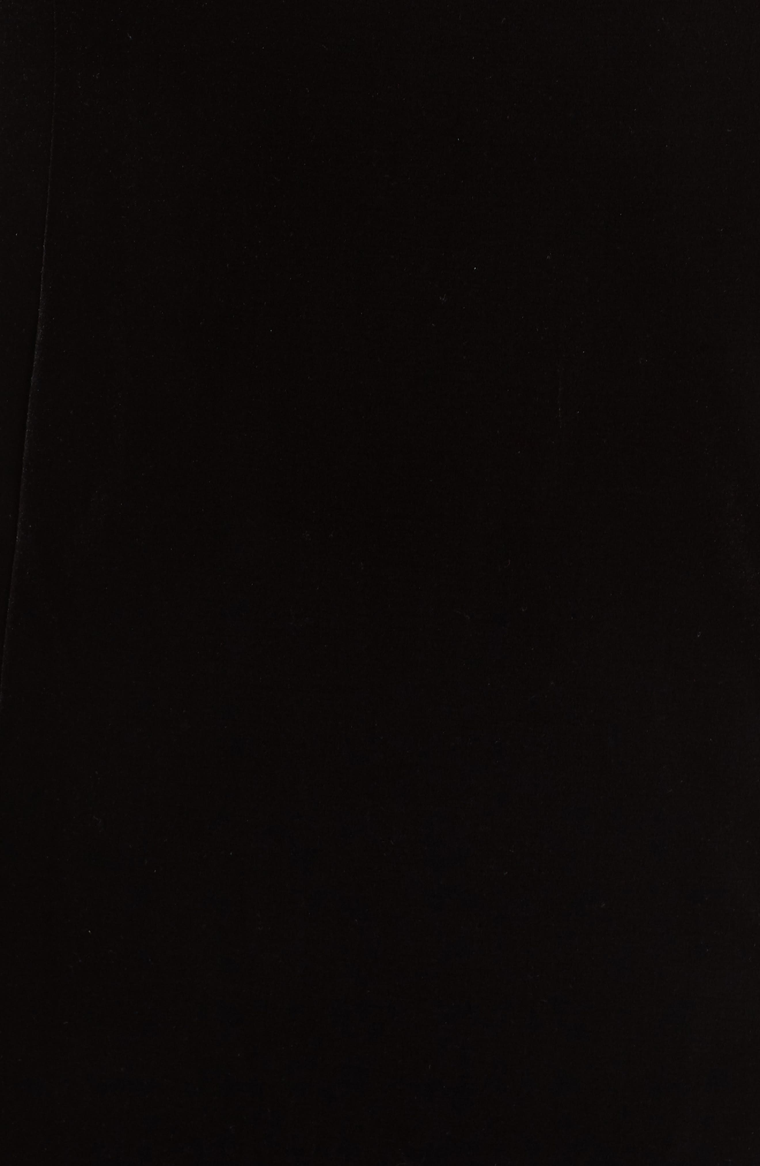 ALEX EVENINGS,                             Velvet Cold Shoulder Sheath Dress,                             Alternate thumbnail 6, color,                             001