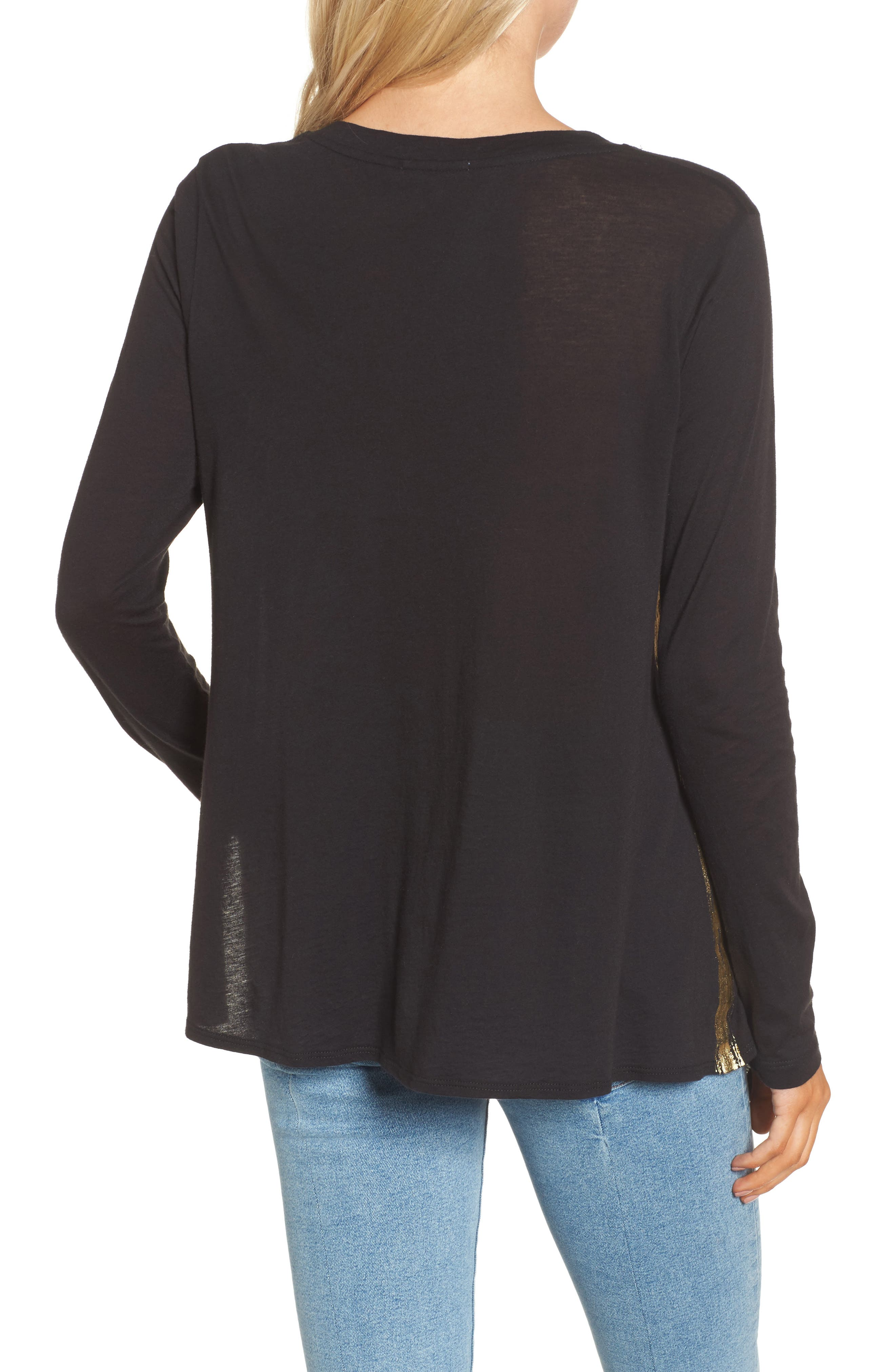 Knotted Hem Top,                             Alternate thumbnail 2, color,                             001