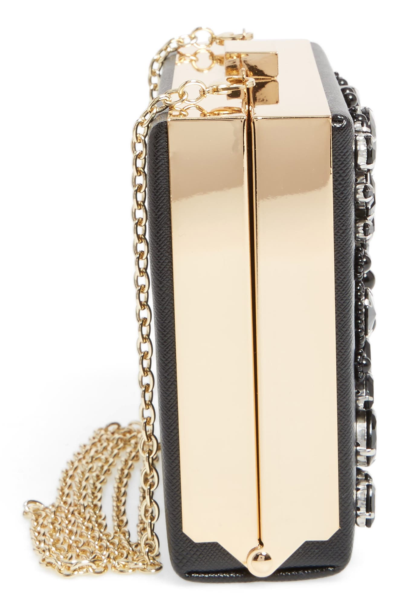 Crystal Box Clutch,                             Alternate thumbnail 5, color,                             001