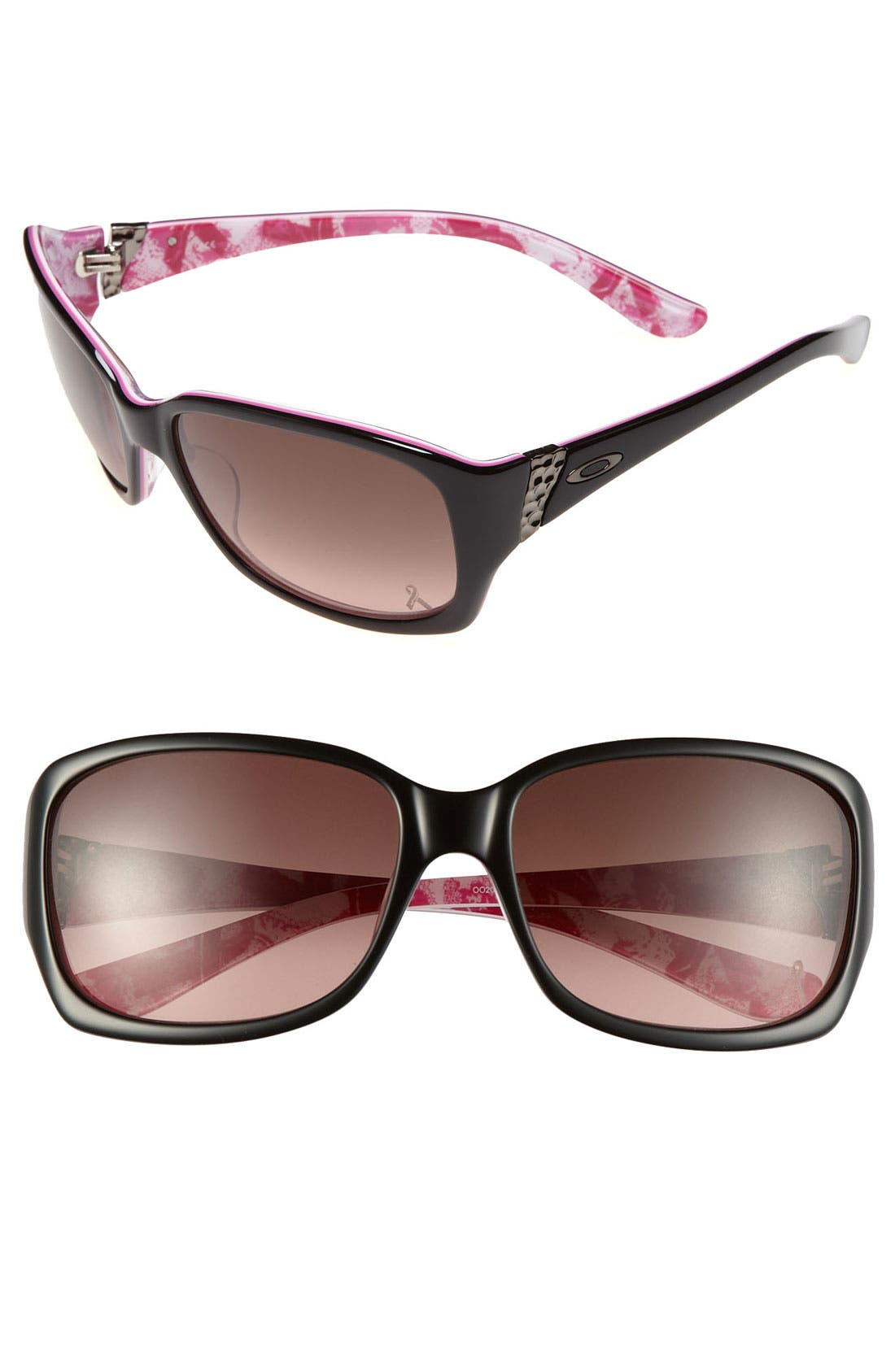 OAKLEY,                             'Discreet<sup>®</sup> - Breast Cancer Awareness Edition' 56mm Sunglasses,                             Main thumbnail 1, color,                             001