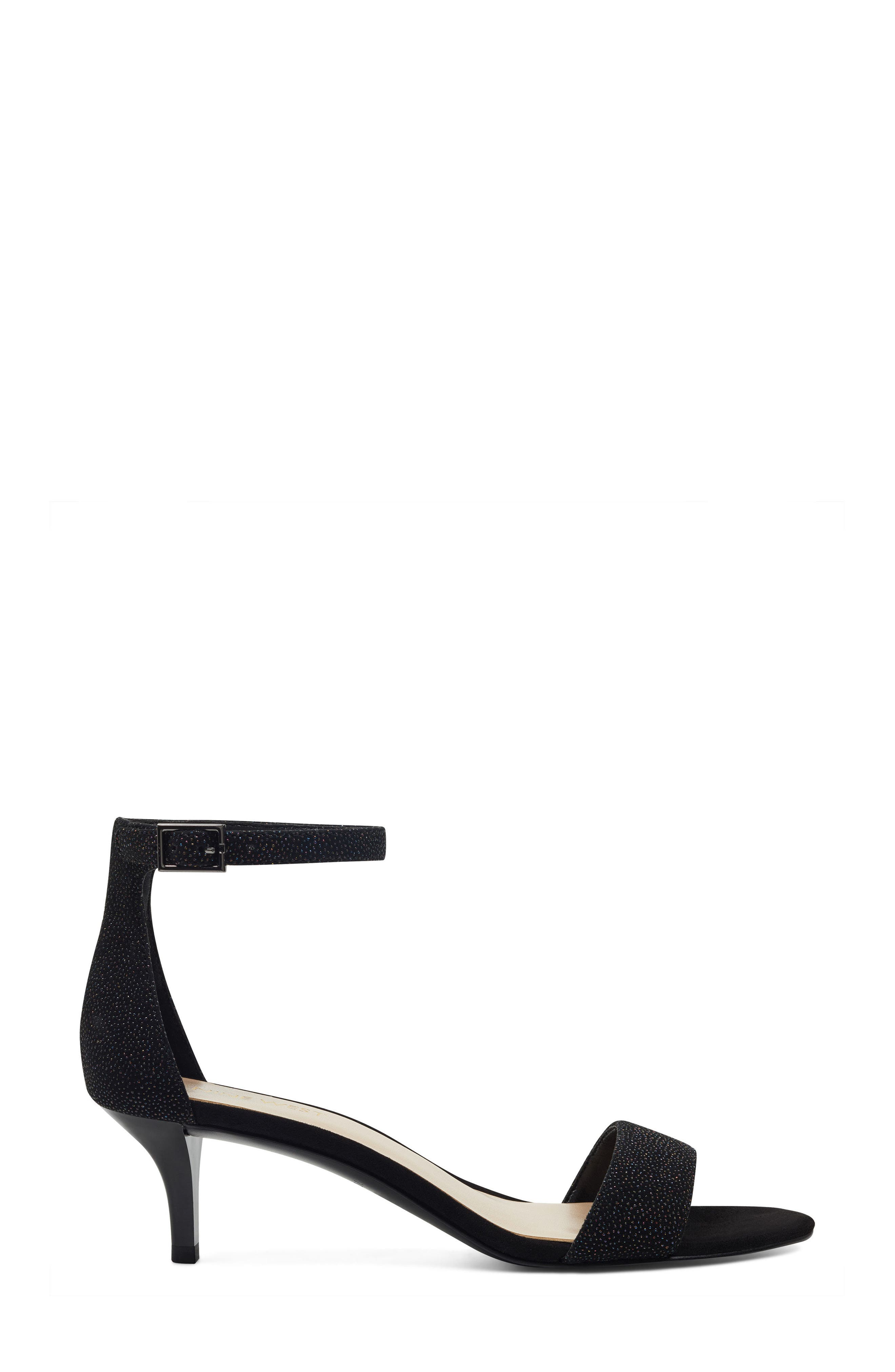 'Leisa' Ankle Strap Sandal,                             Alternate thumbnail 3, color,                             BLACK MULTI LEATHER
