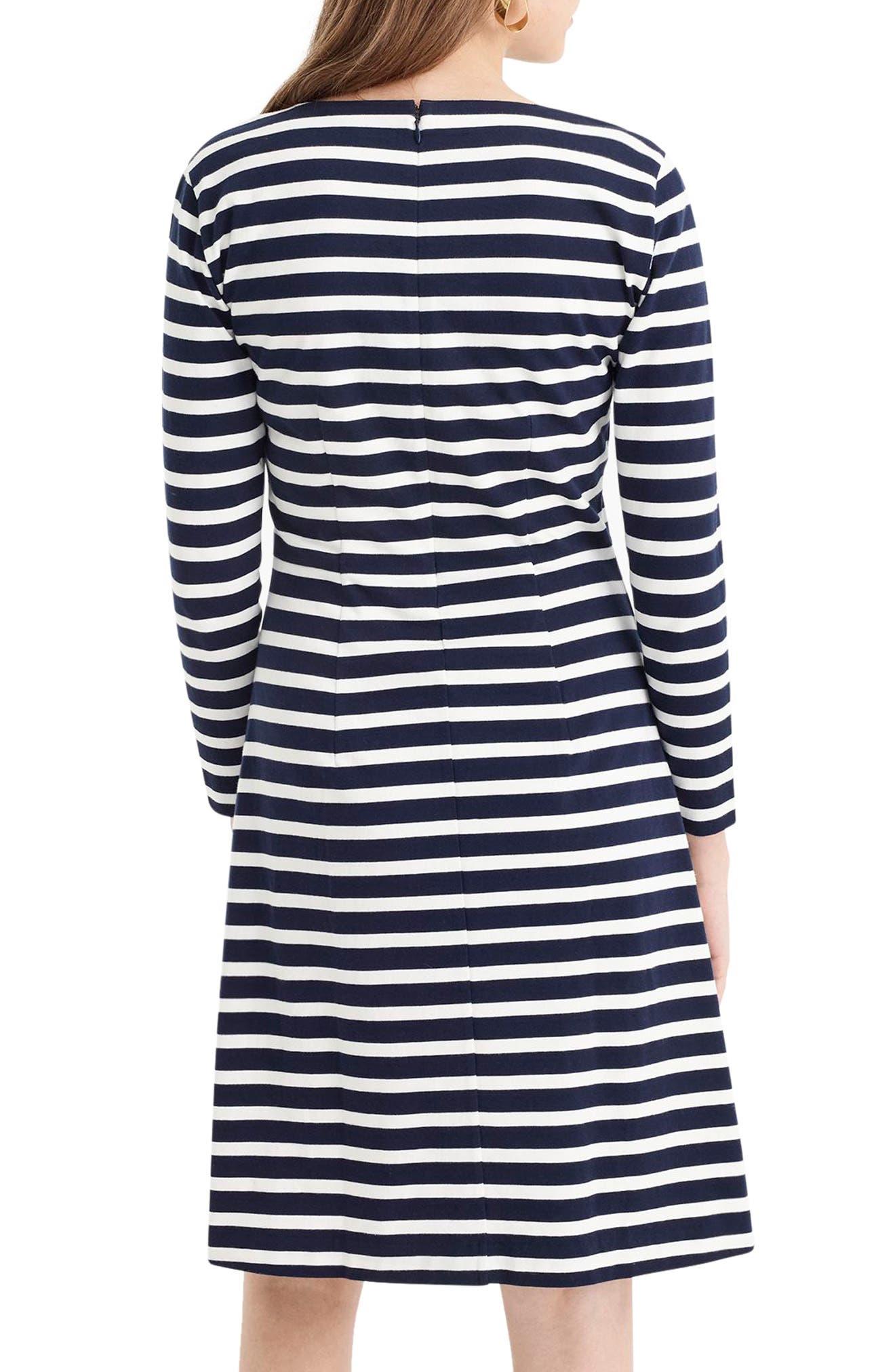 365 Stripe Knit Fit & Flare Dress,                             Alternate thumbnail 2, color,                             400
