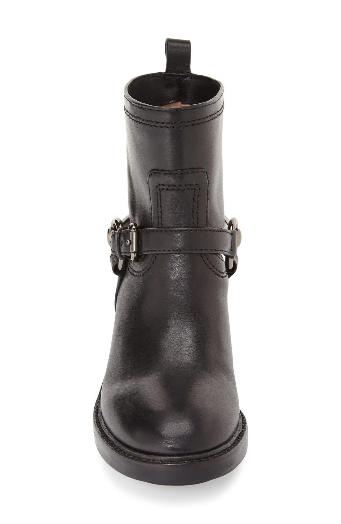 'Gillian' Moto Boot,                             Alternate thumbnail 4, color,                             001