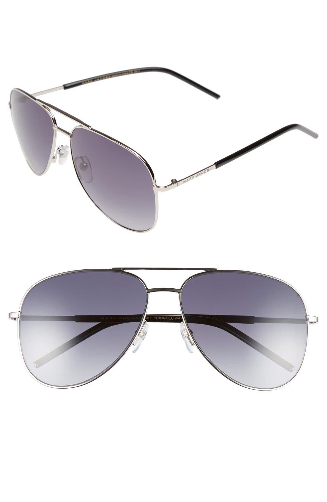 59mm Aviator Sunglasses,                             Main thumbnail 2, color,