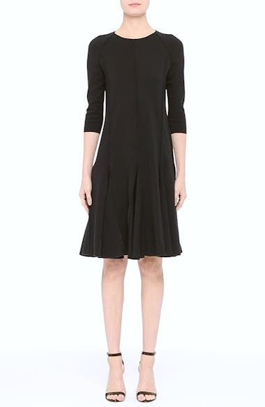 Seamed Jersey Fit & Flare Dress, video thumbnail