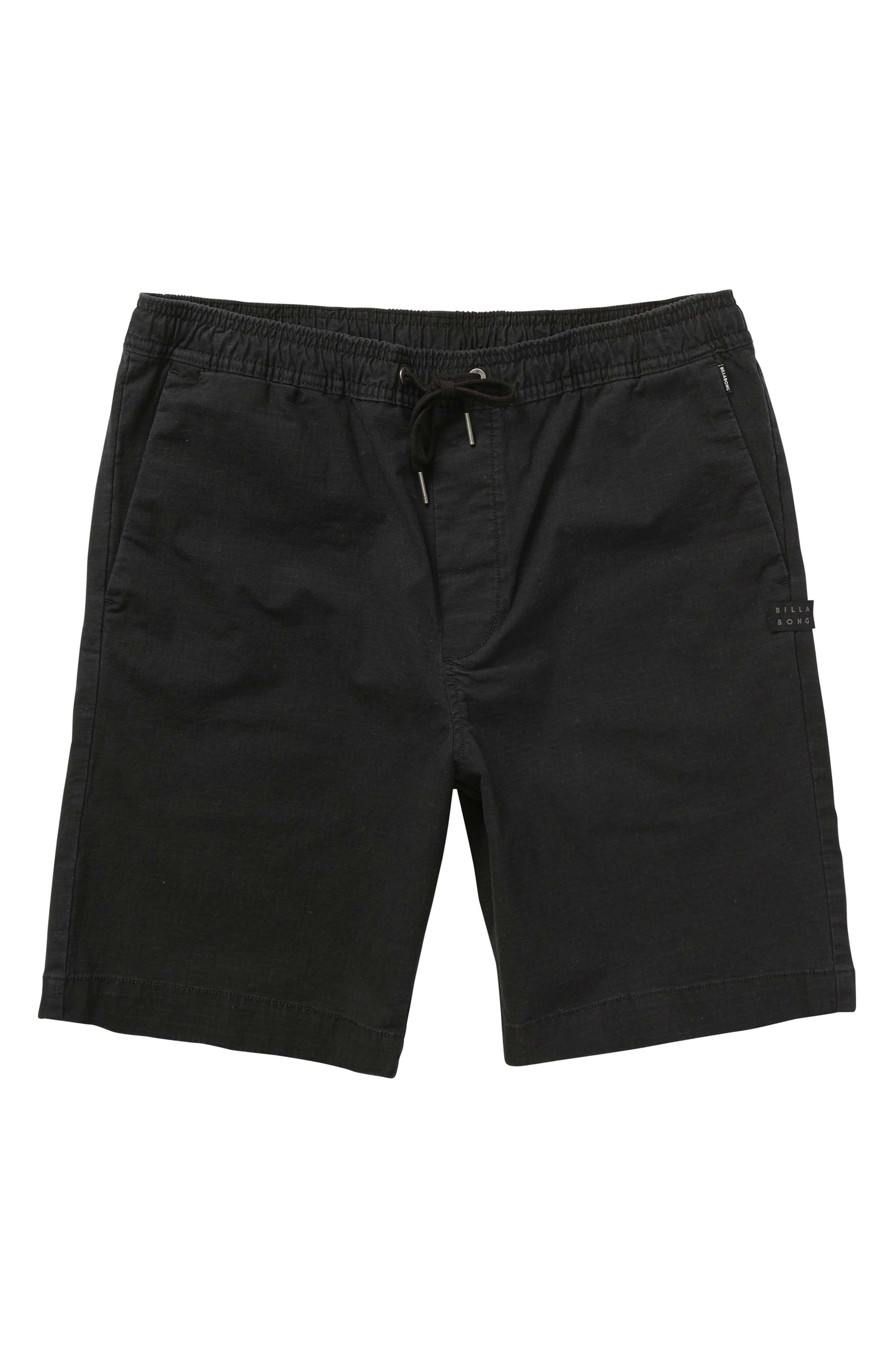 Larry Layback Shorts, Main, color, BLACK