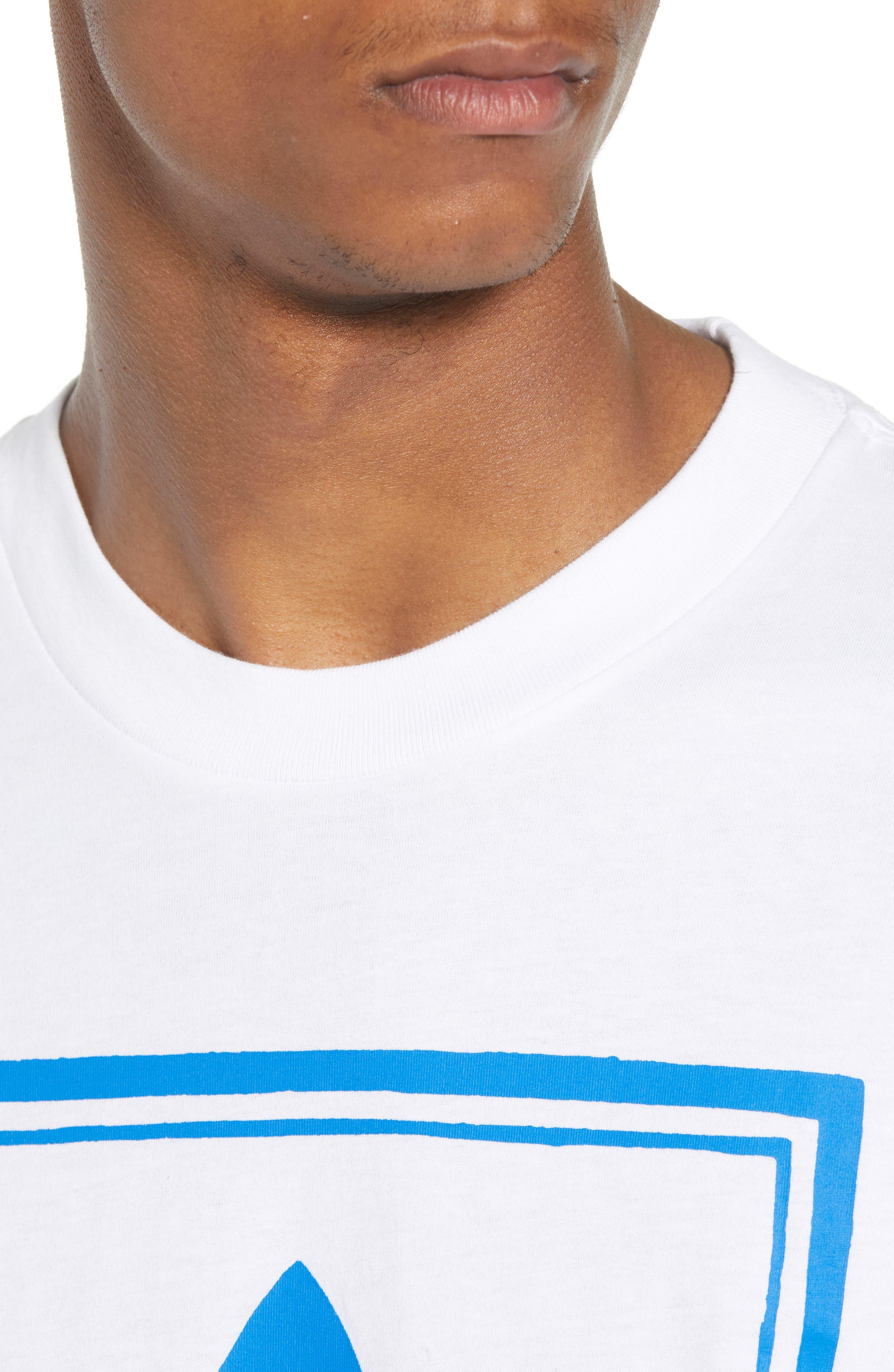 adidas Vintage Logo Graphic T-Shirt,                             Alternate thumbnail 4, color,                             100