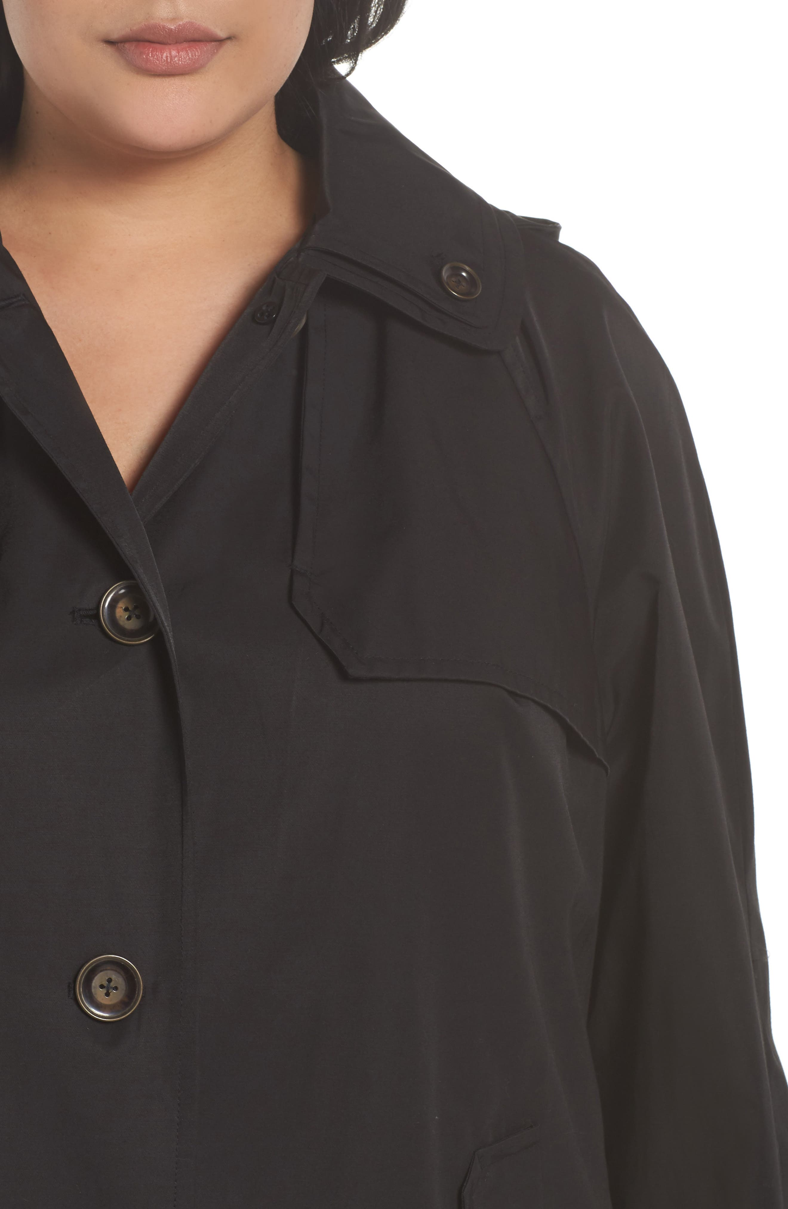 Removable Hood Rain Jacket,                             Alternate thumbnail 4, color,                             001