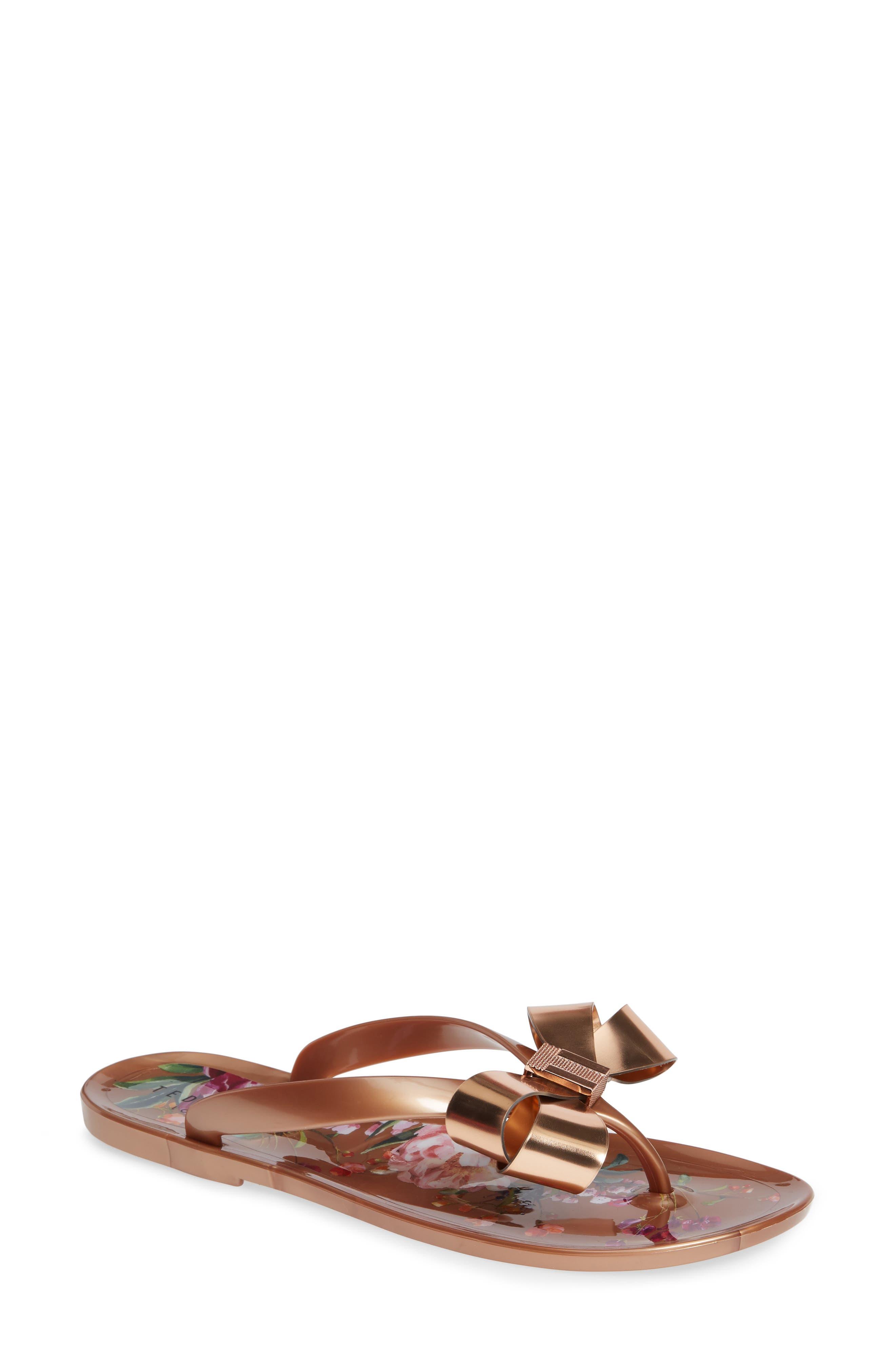 Suszie Flip Flop,                         Main,                         color, ROSE GOLD